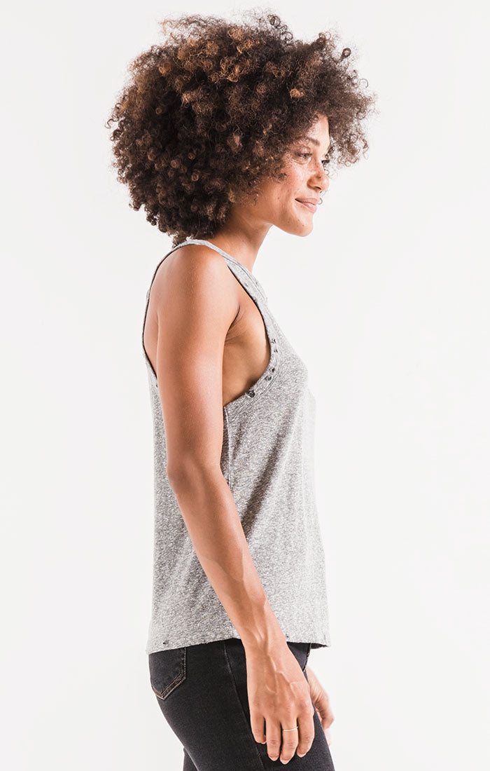 Tops The Triblend Racer Tank Heather Grey