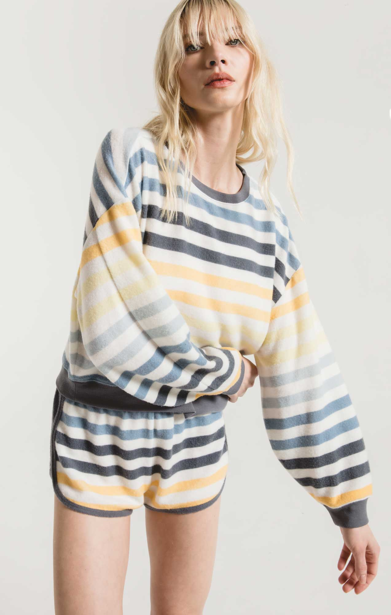 Tops The Rainbow Stripe Pullover Oasis Blue