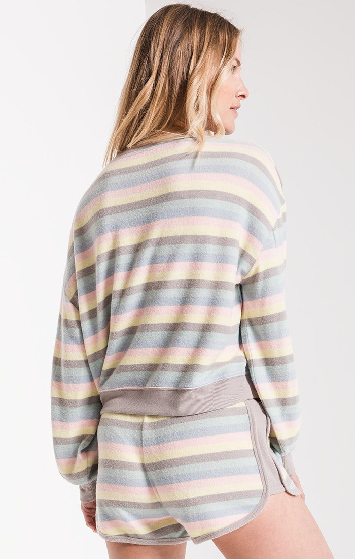 Tops The Rainbow Stripe Pullover Rainbow