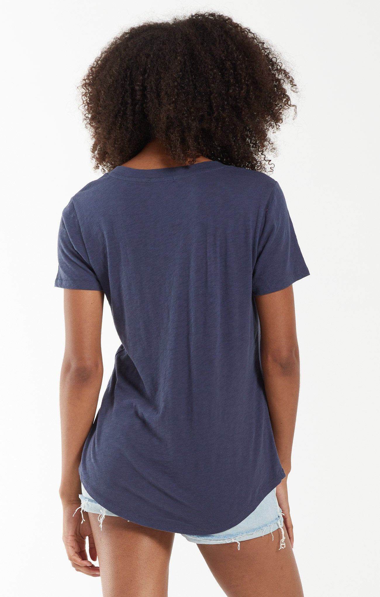 Tops Cotton Slub Pocket Tee Midnight Navy
