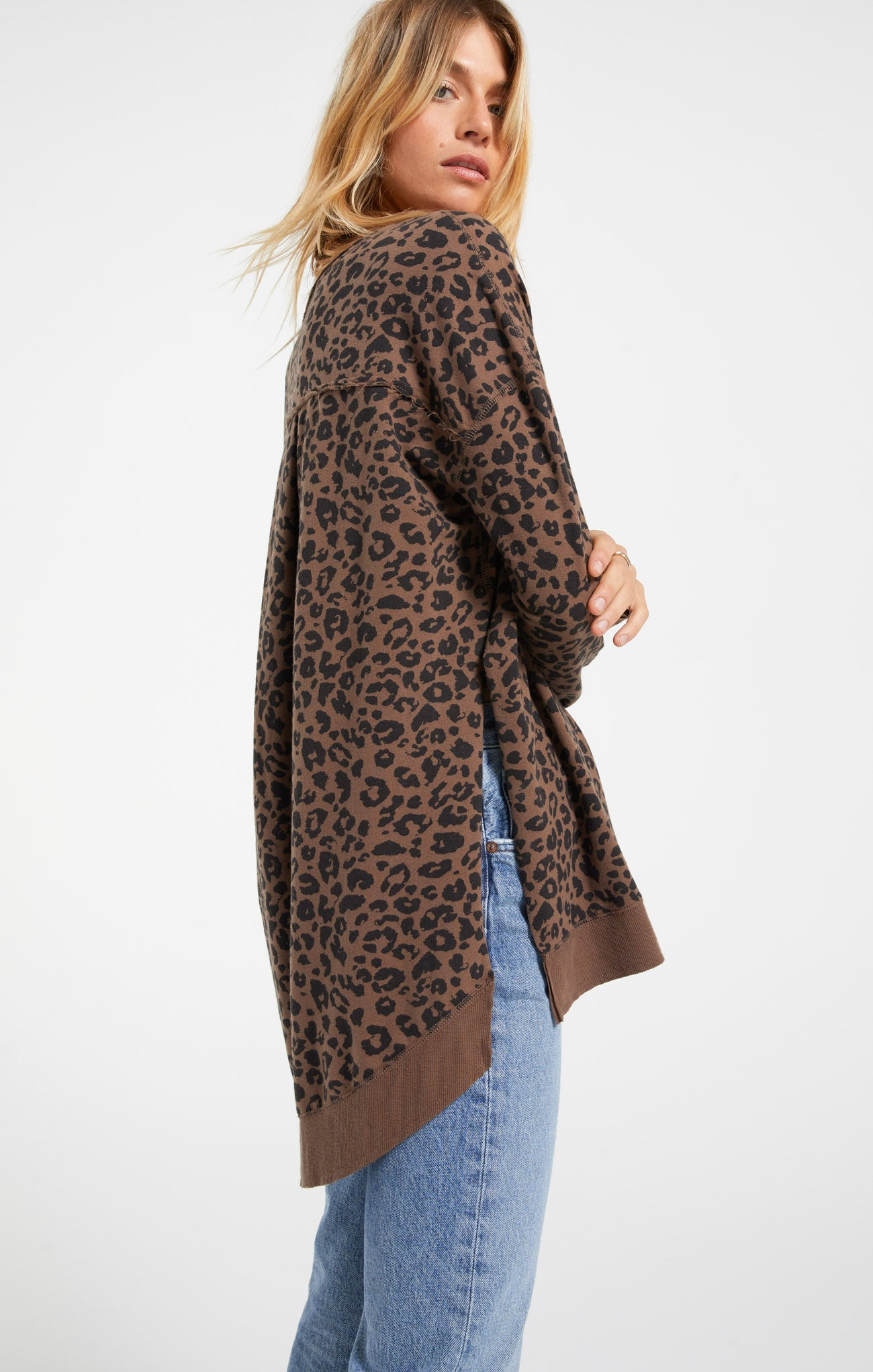 Tops Leopard Weekender French Roast