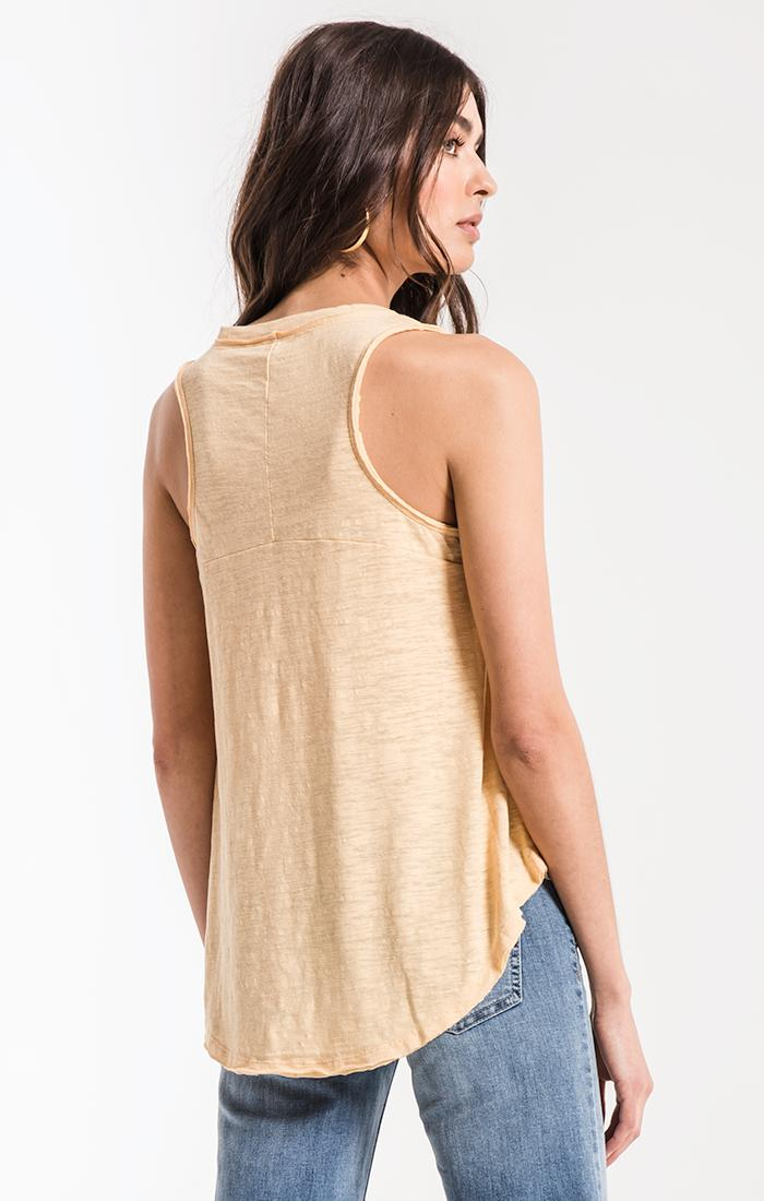 Tops The Airy Slub Vagabond Yellow Cream