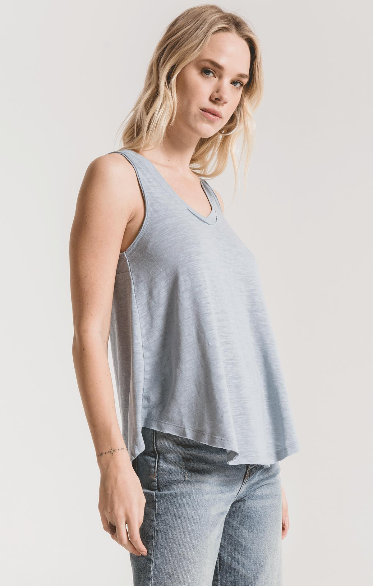 Tops The Airy Slub Vagabond Dusty Blue