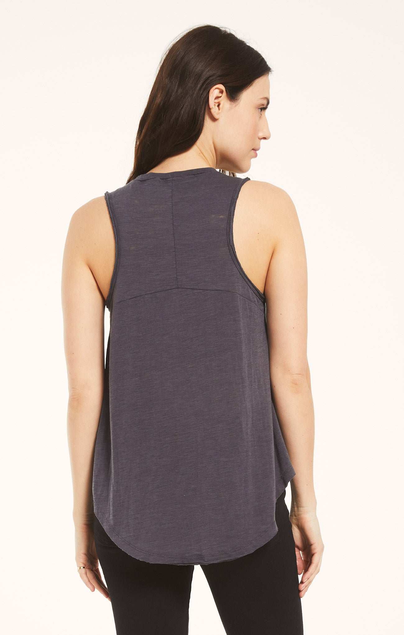 Tops Airy Slub Vagabond Washed Grey