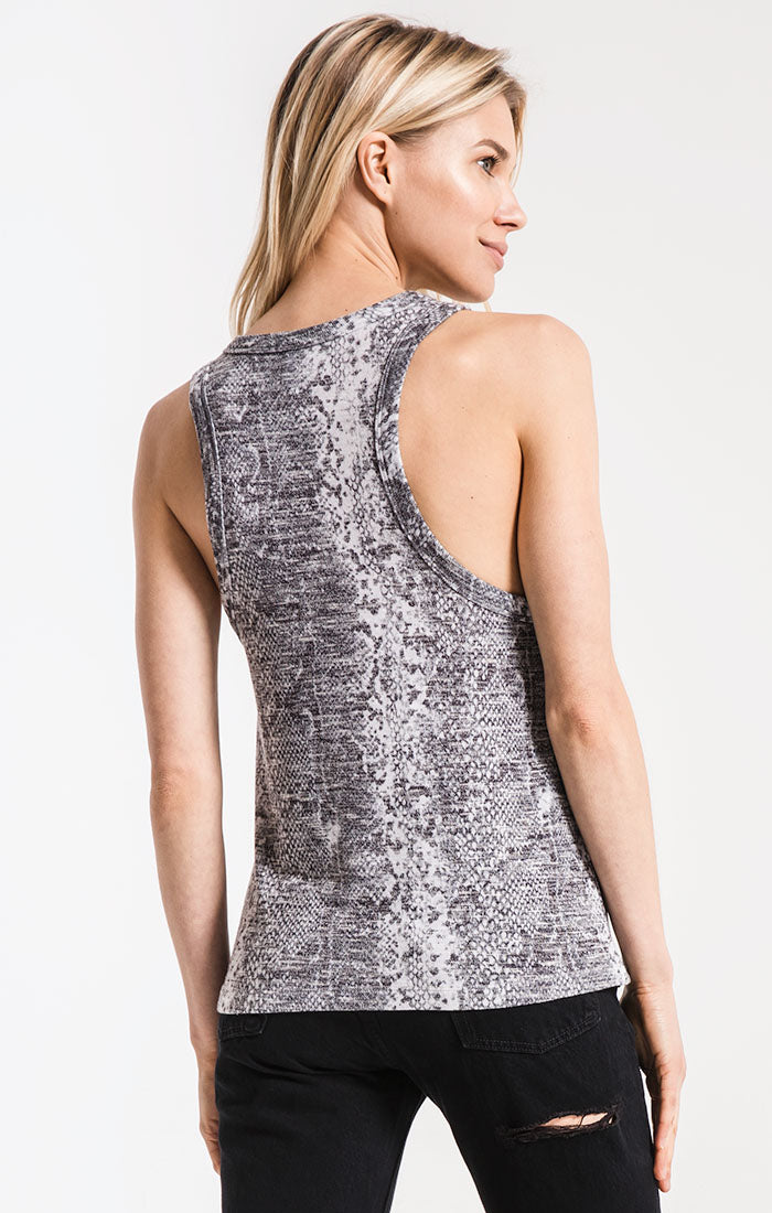 Tops The Snakeskin Muscle Tank Grey Combo