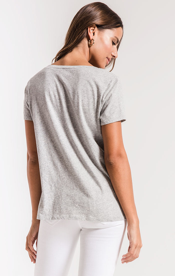 Tops Perfect V-Neck Tee Heather Grey