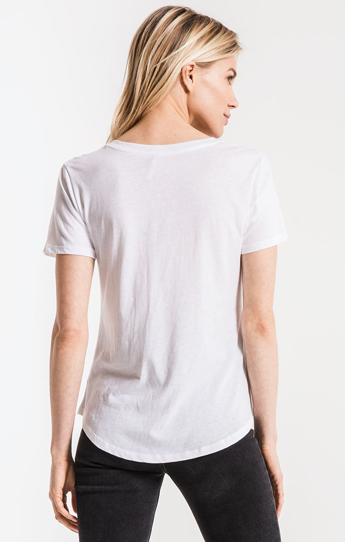 Tops Perfect V-Neck Tee White