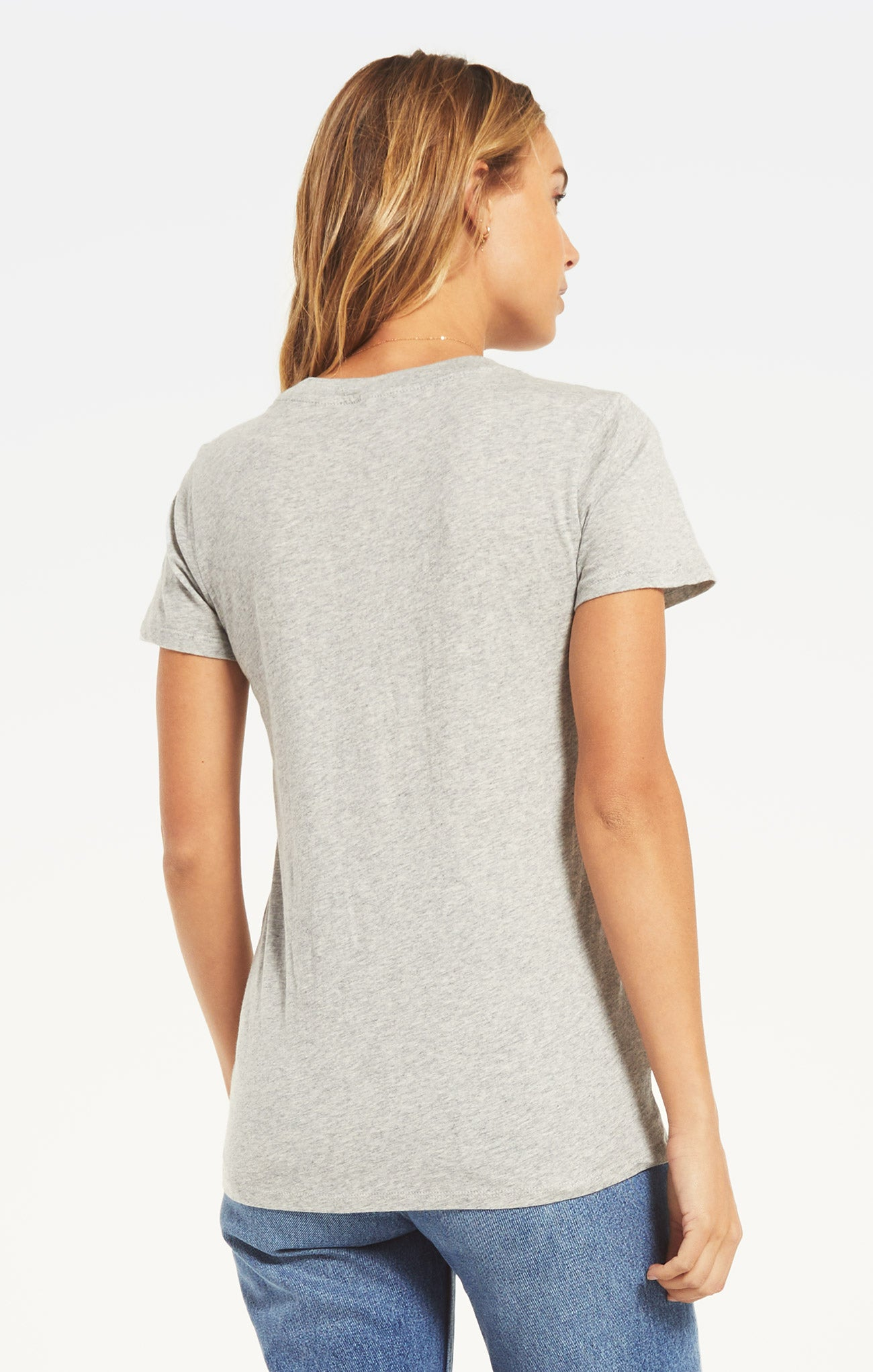 Tops Perfect Crew Tee Heather Grey