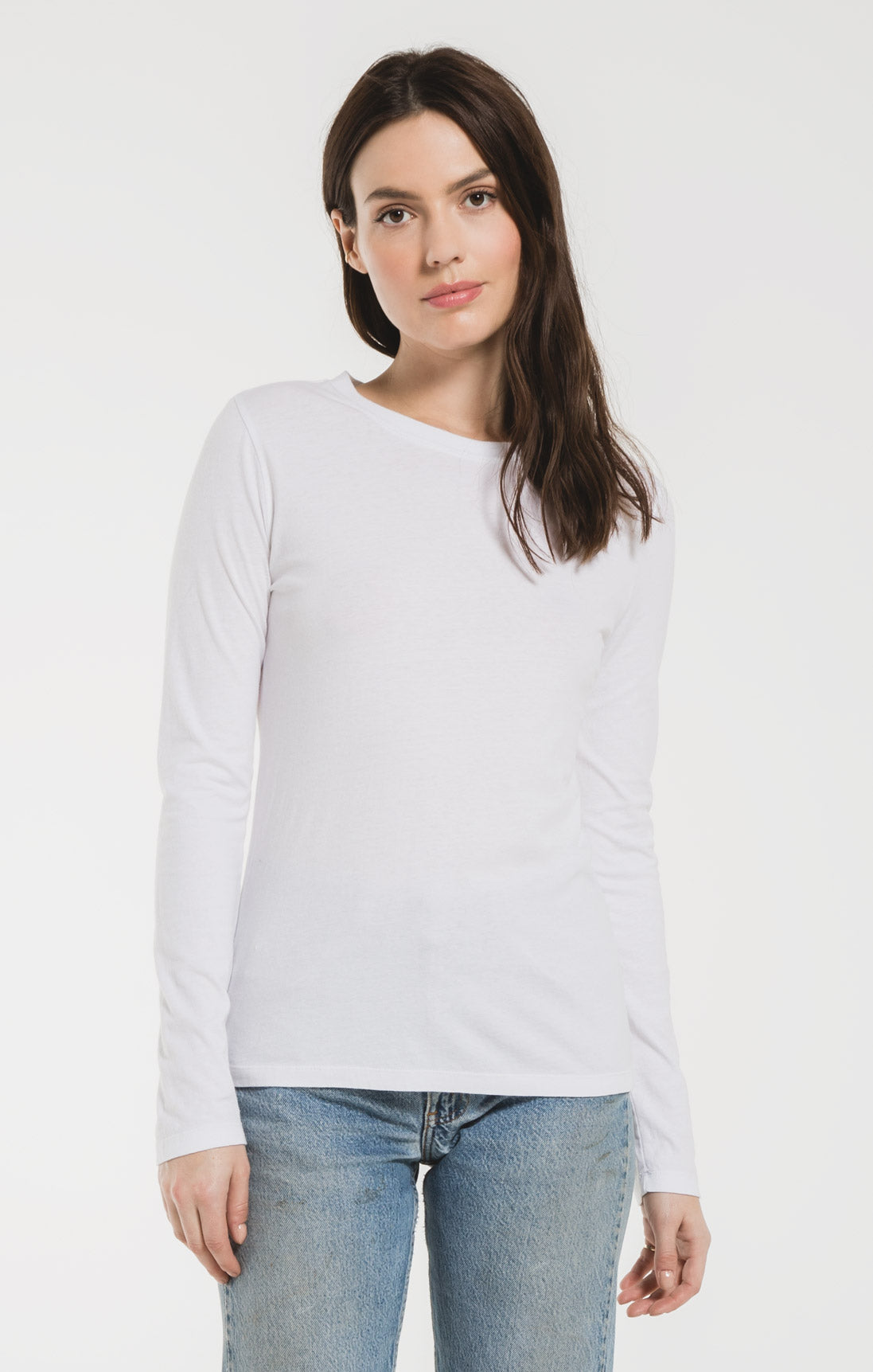 Tops The Perfect Long Sleeve Crew Tee White