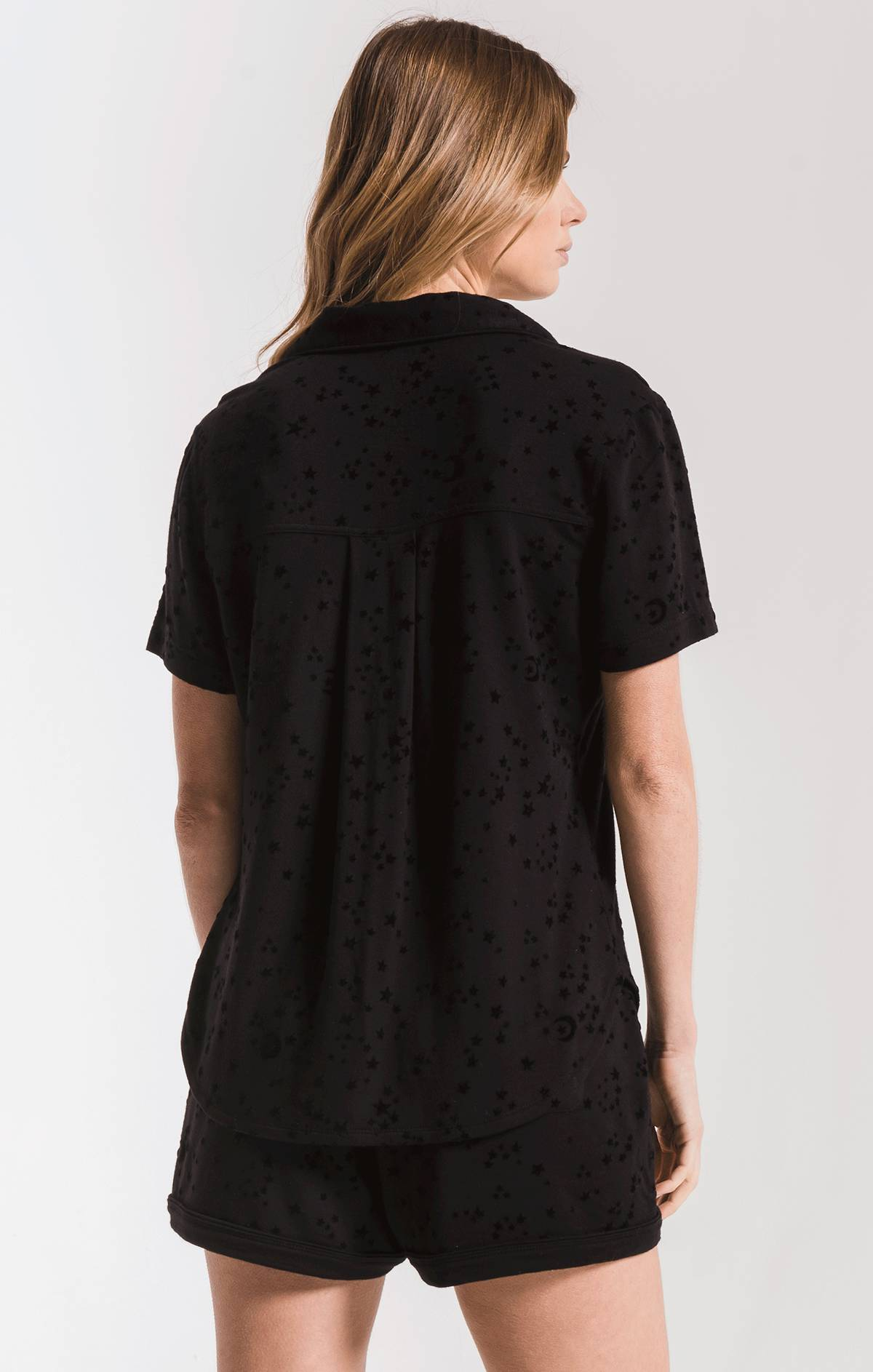 Lounge The Stars Pajama Shirt Black