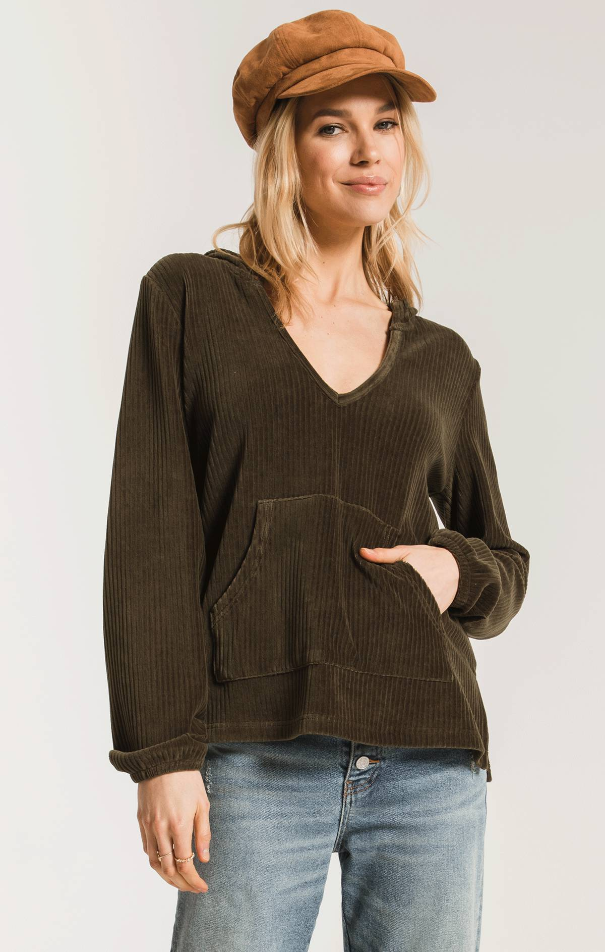 Tops The Knit Corduroy Pullover Forest Night