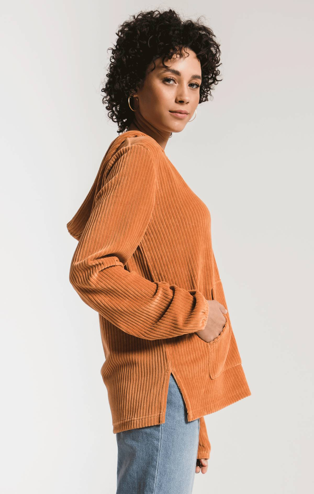 Tops The Knit Corduroy Pullover Warm Wood