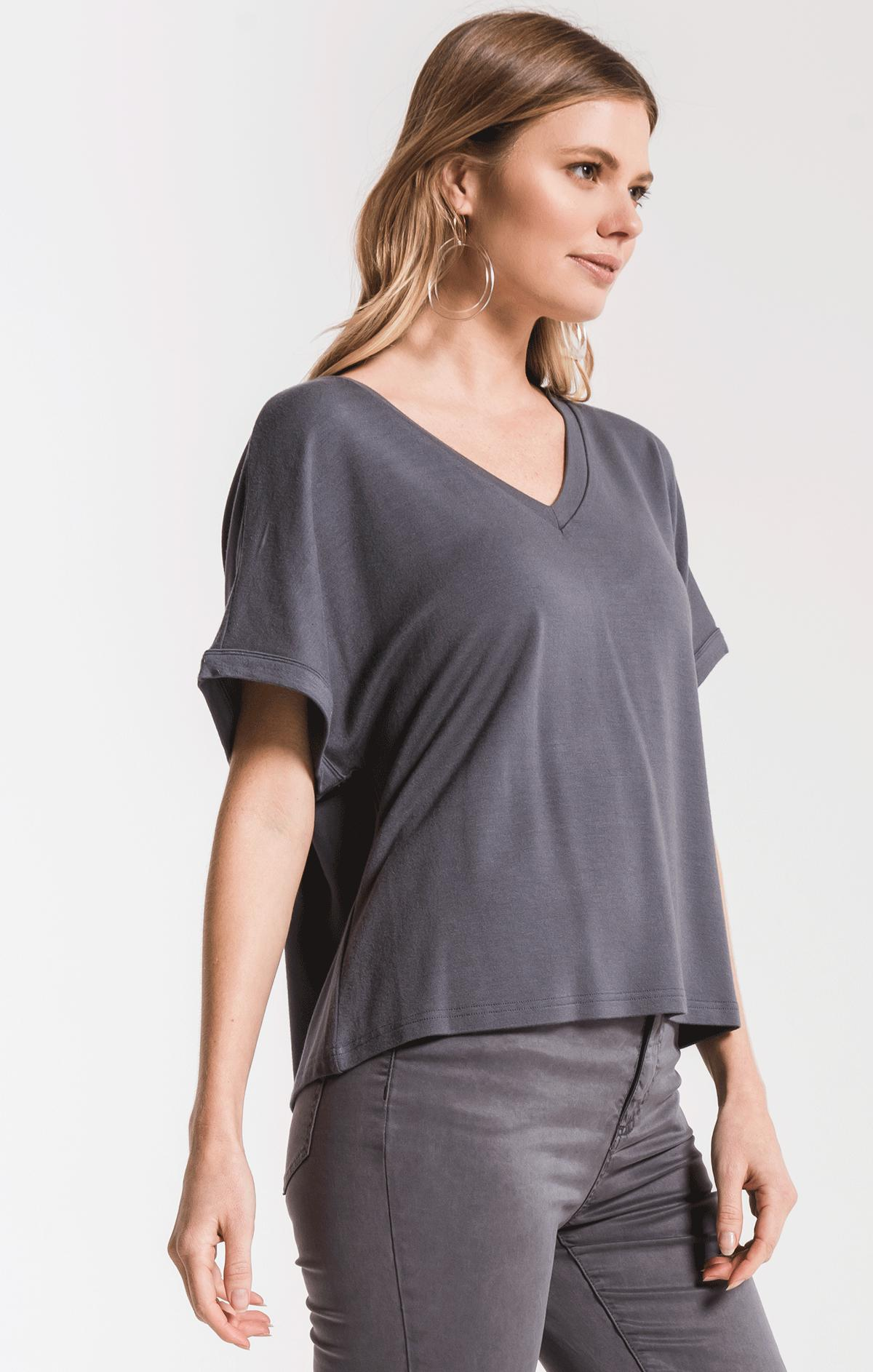 Tops The Alda Dolman Tee Storm Grey