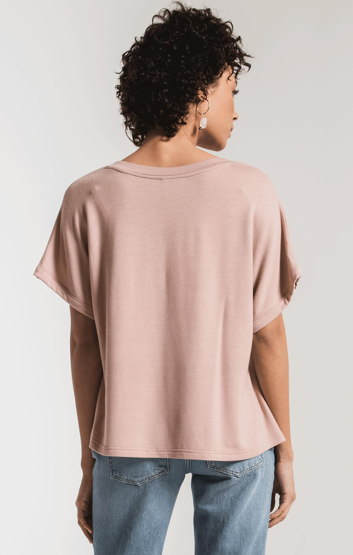 Tops The Alda Dolman Tee Wood Rose