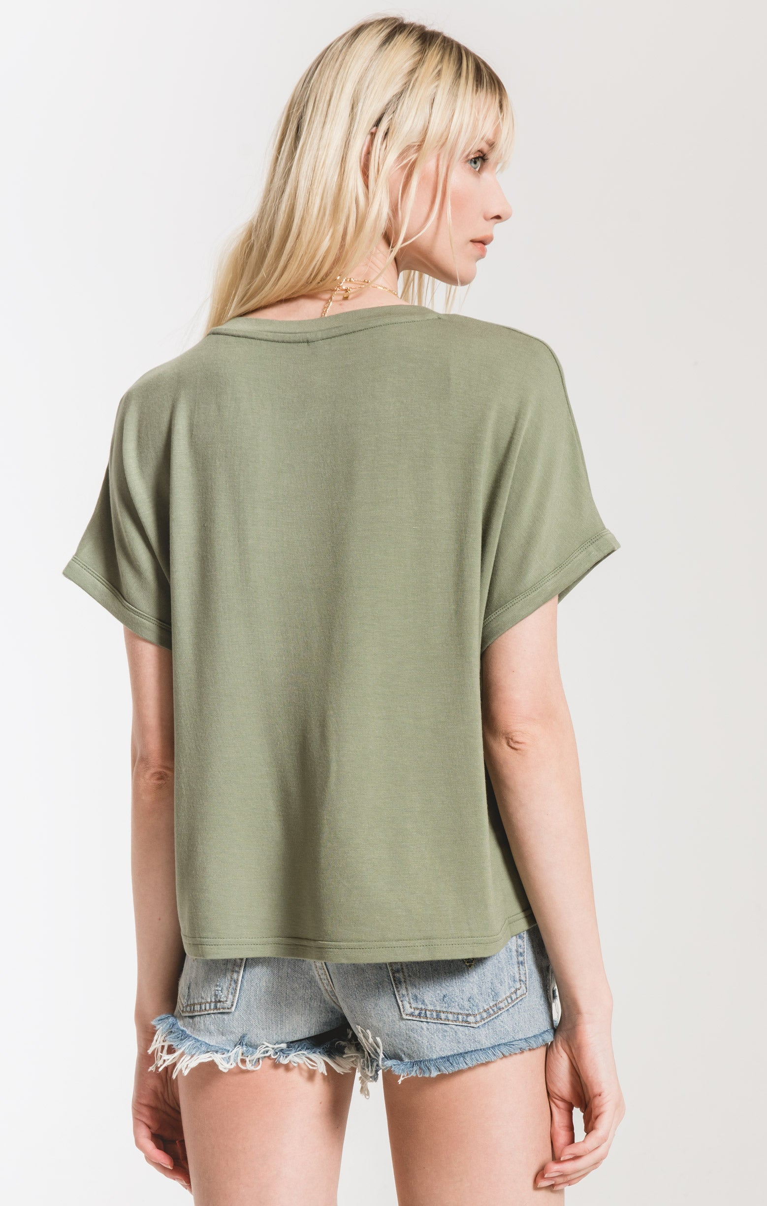 Tops The Alda Dolman Tee Agave Green