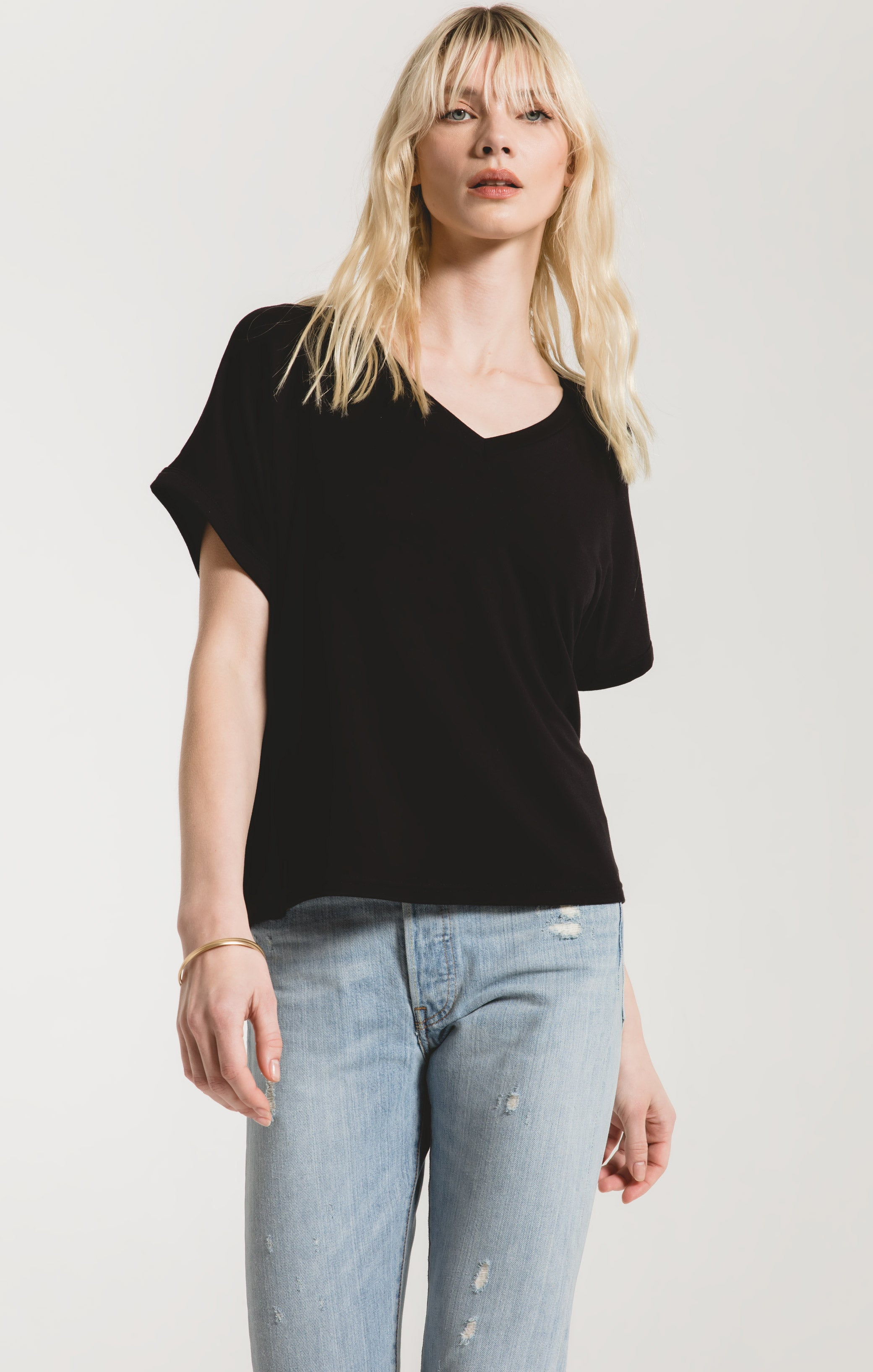 Tops The Alda Dolman Tee Black