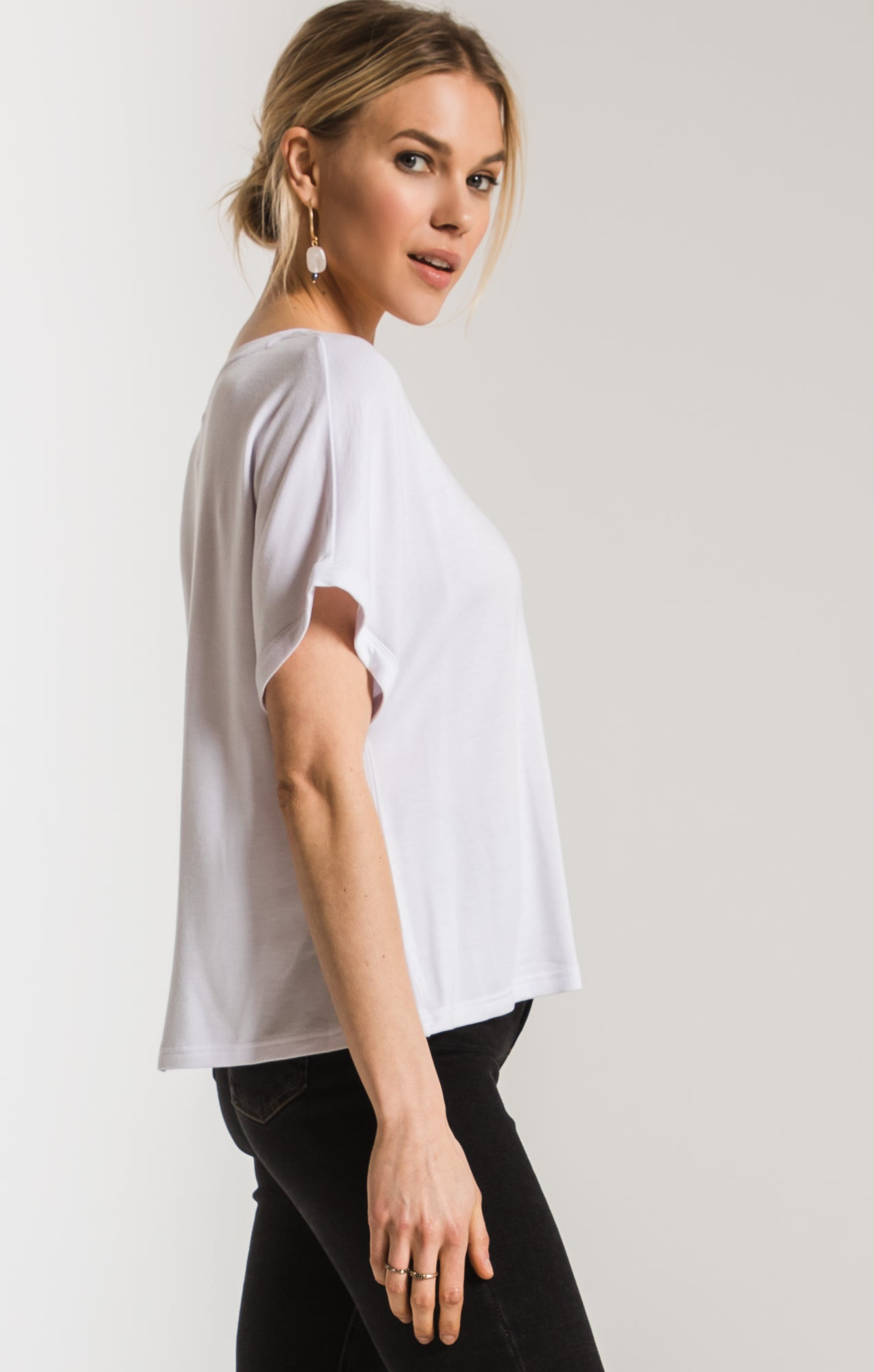 Tops The Alda Dolman Tee White