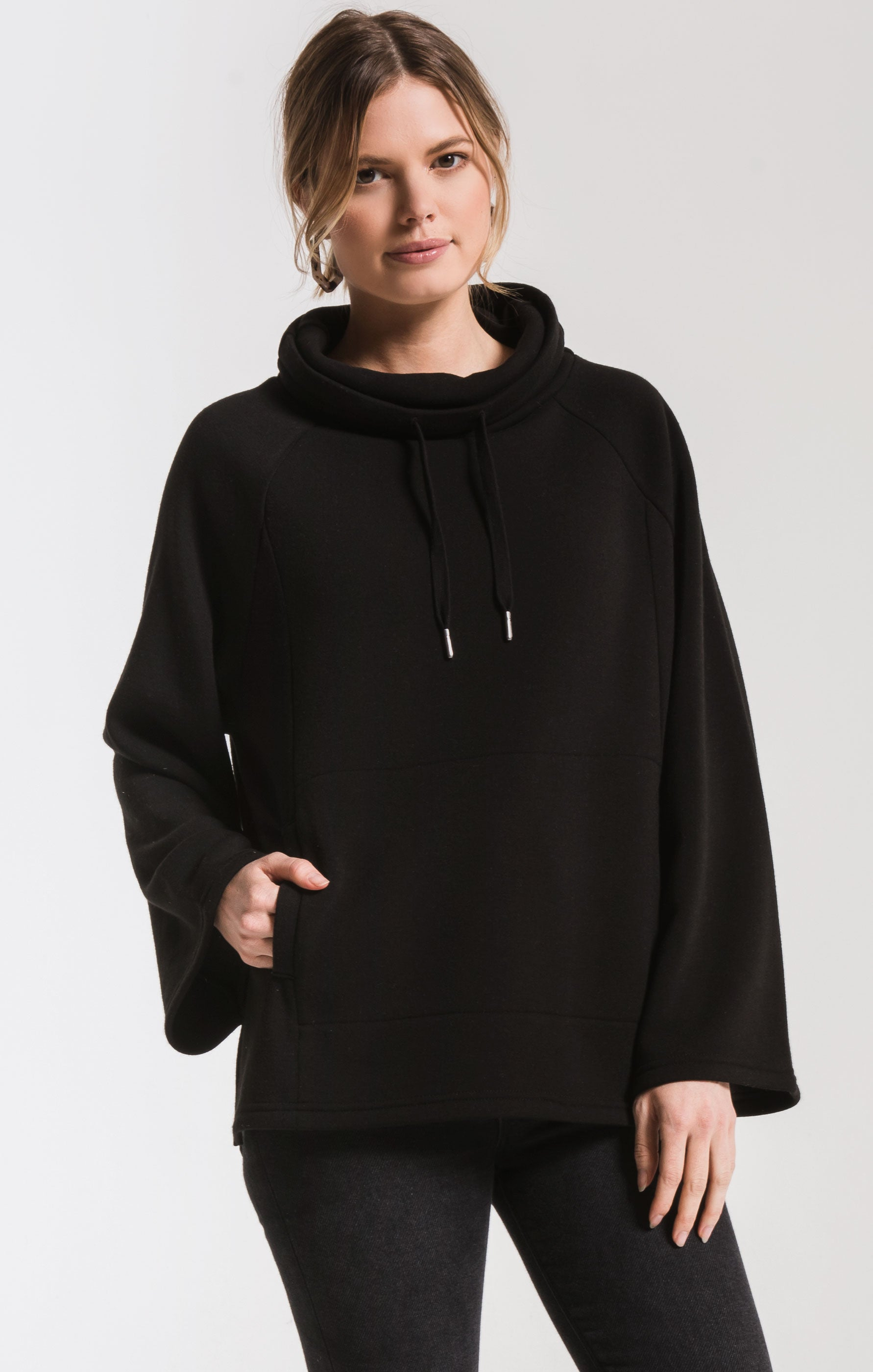 Jackets The Loft Fleece Cowl Neck Pullover Black