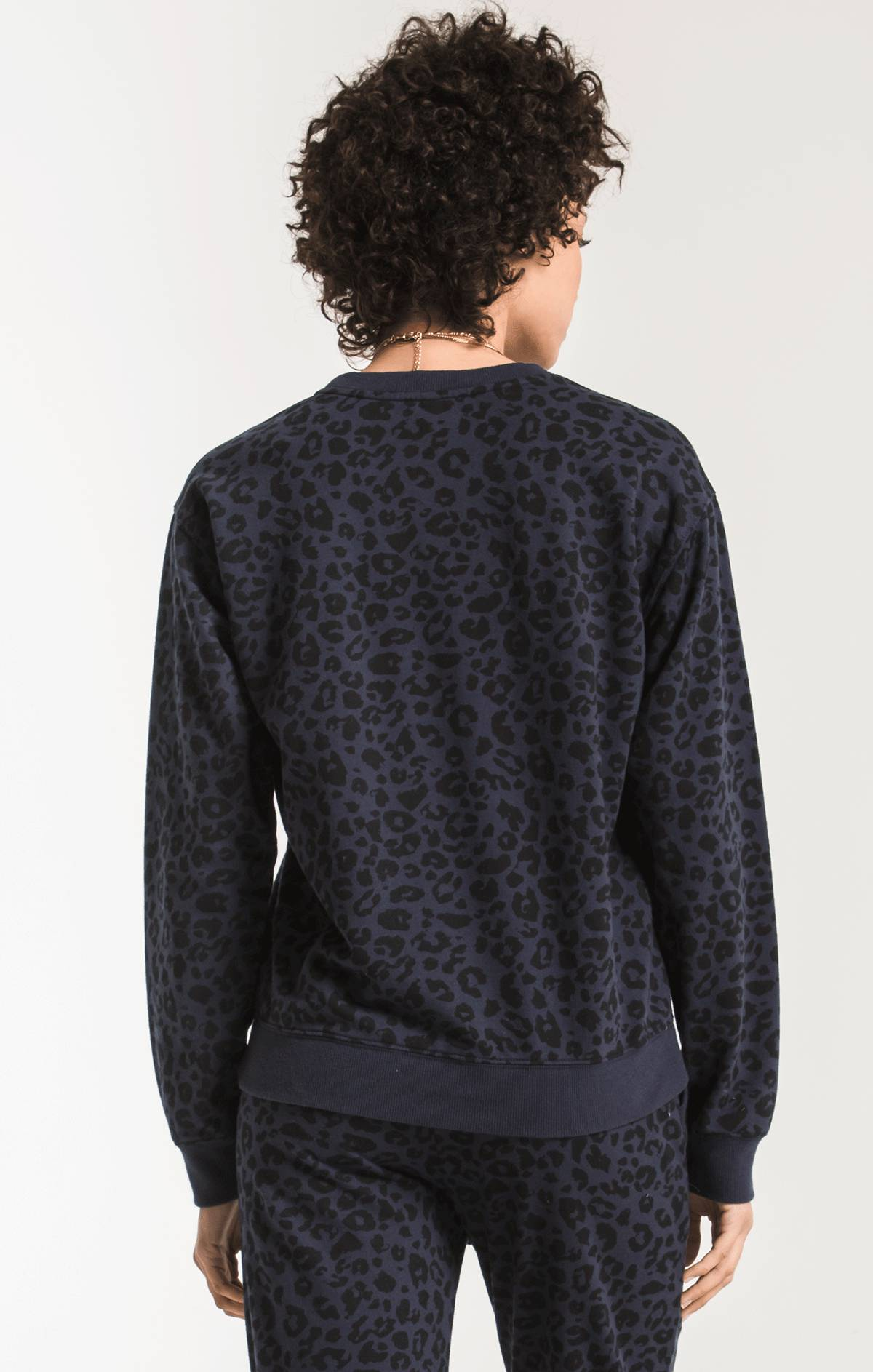 Tops The Leopard Pullover Black Iris