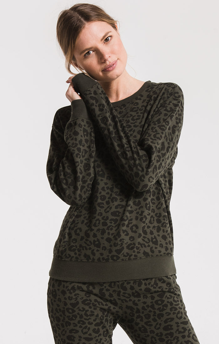 Tops The Leopard Pullover Rosin