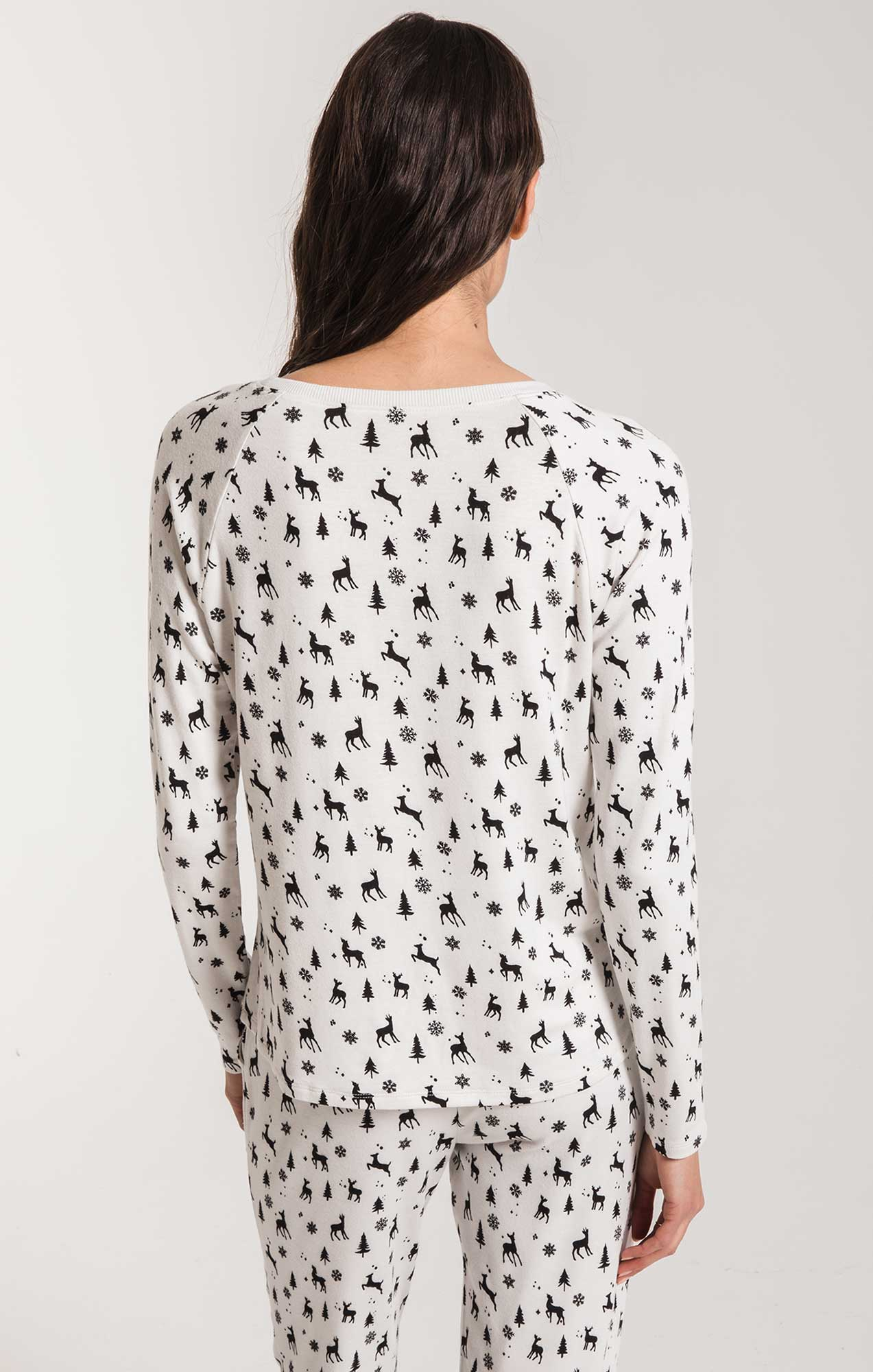 Lounge Woodland Long Sleeve Top Champagne Mist