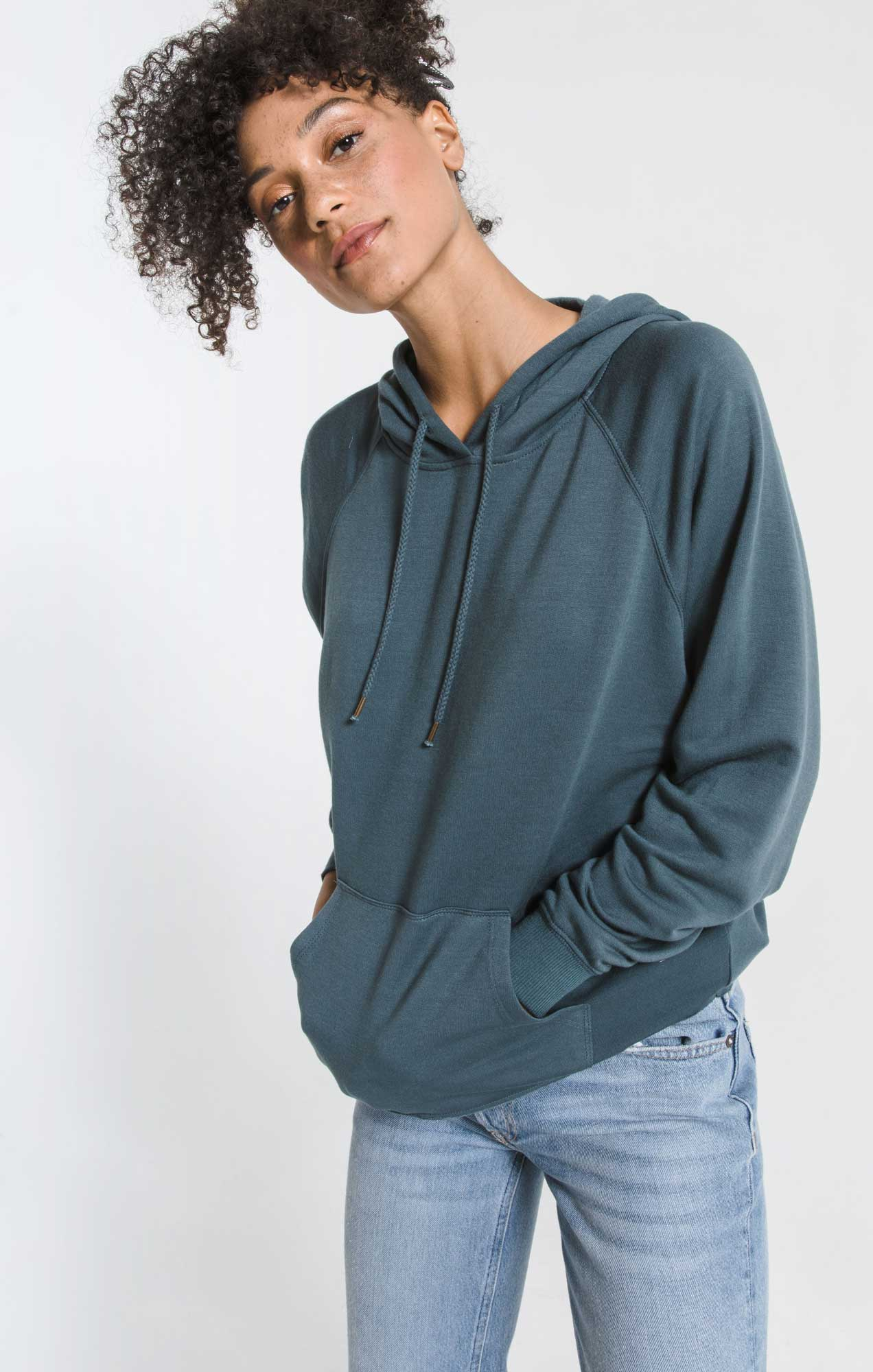 Tops The Premium Fleece Dolman Hoodie Dark Slate