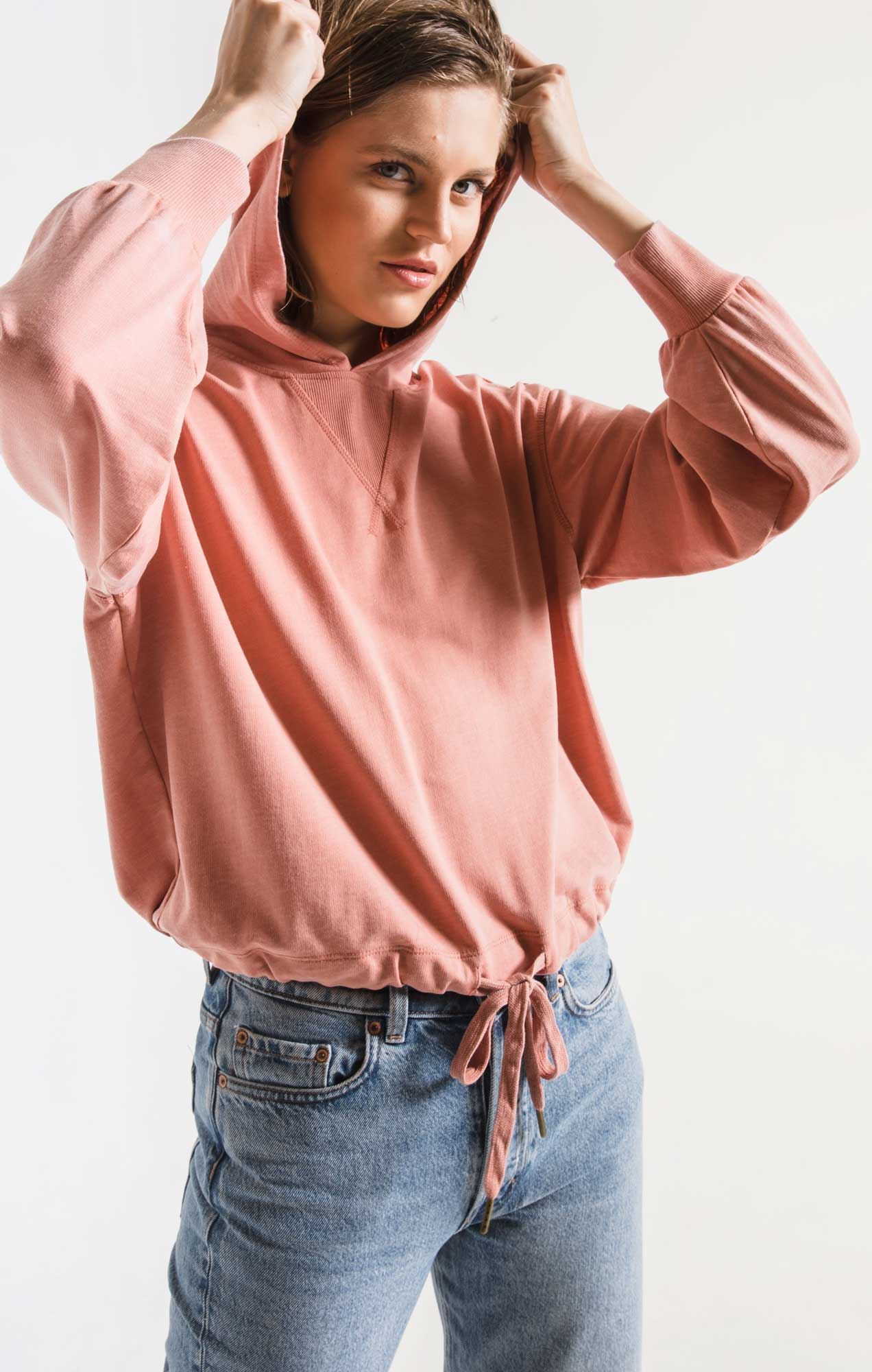Tops The Burnout French Terry Hoodie Cameo Blush