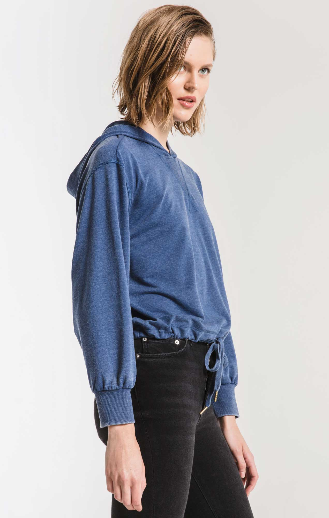 Tops The Burnout French Terry Hoodie Estate Blue