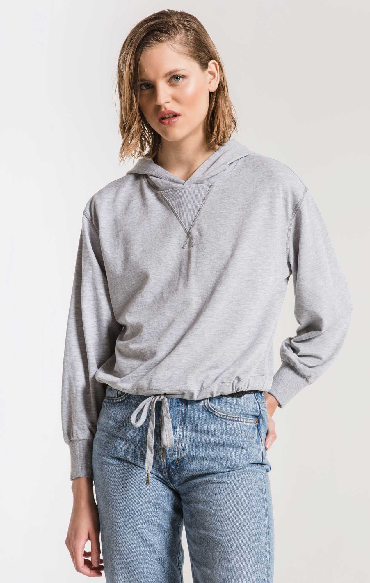 Tops The Burnout French Terry Hoodie Heather Grey