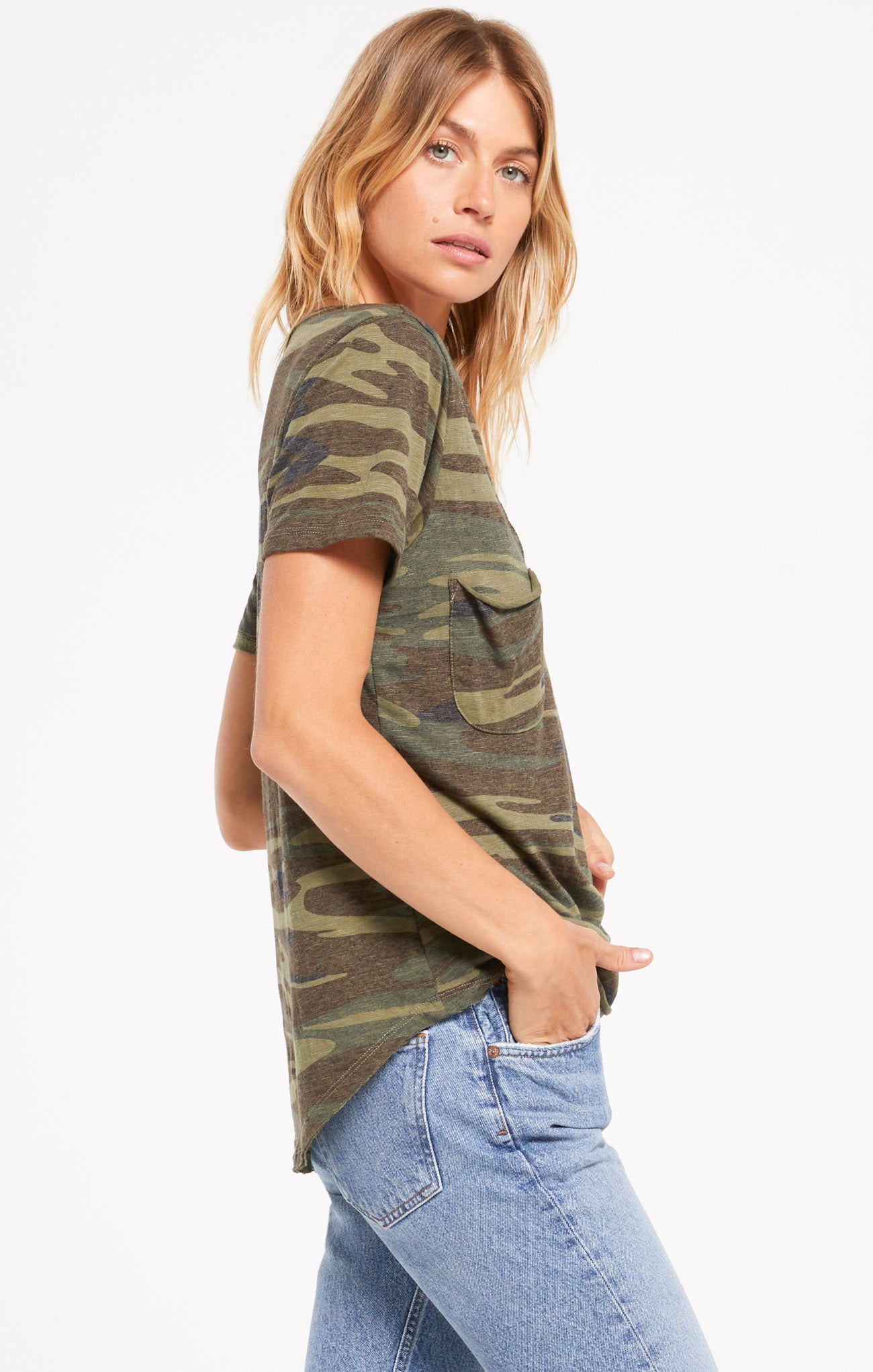 Tops Camo Pocket Tee Camo Green