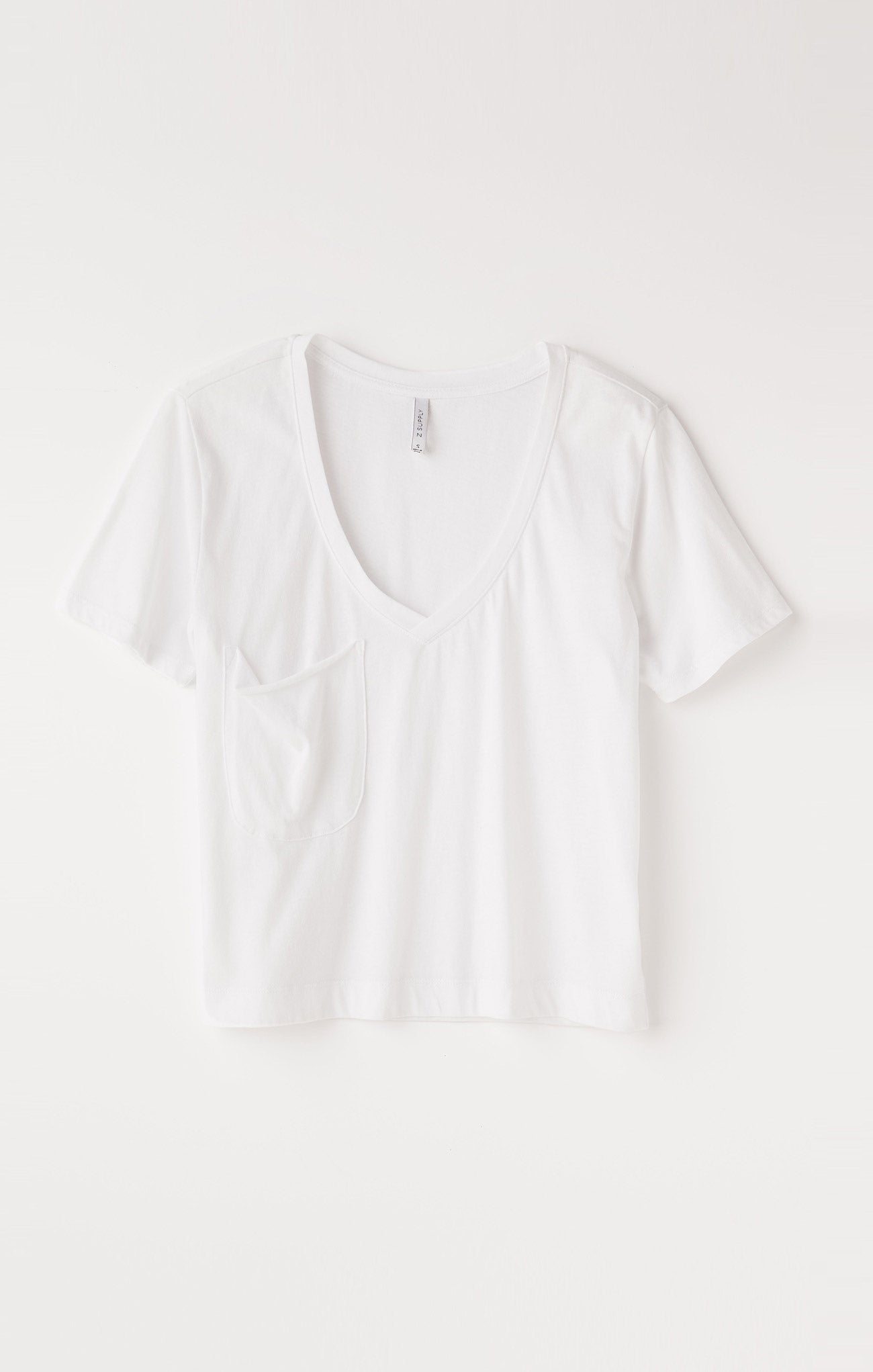 Tops Classic Skimmer Crop Tee White