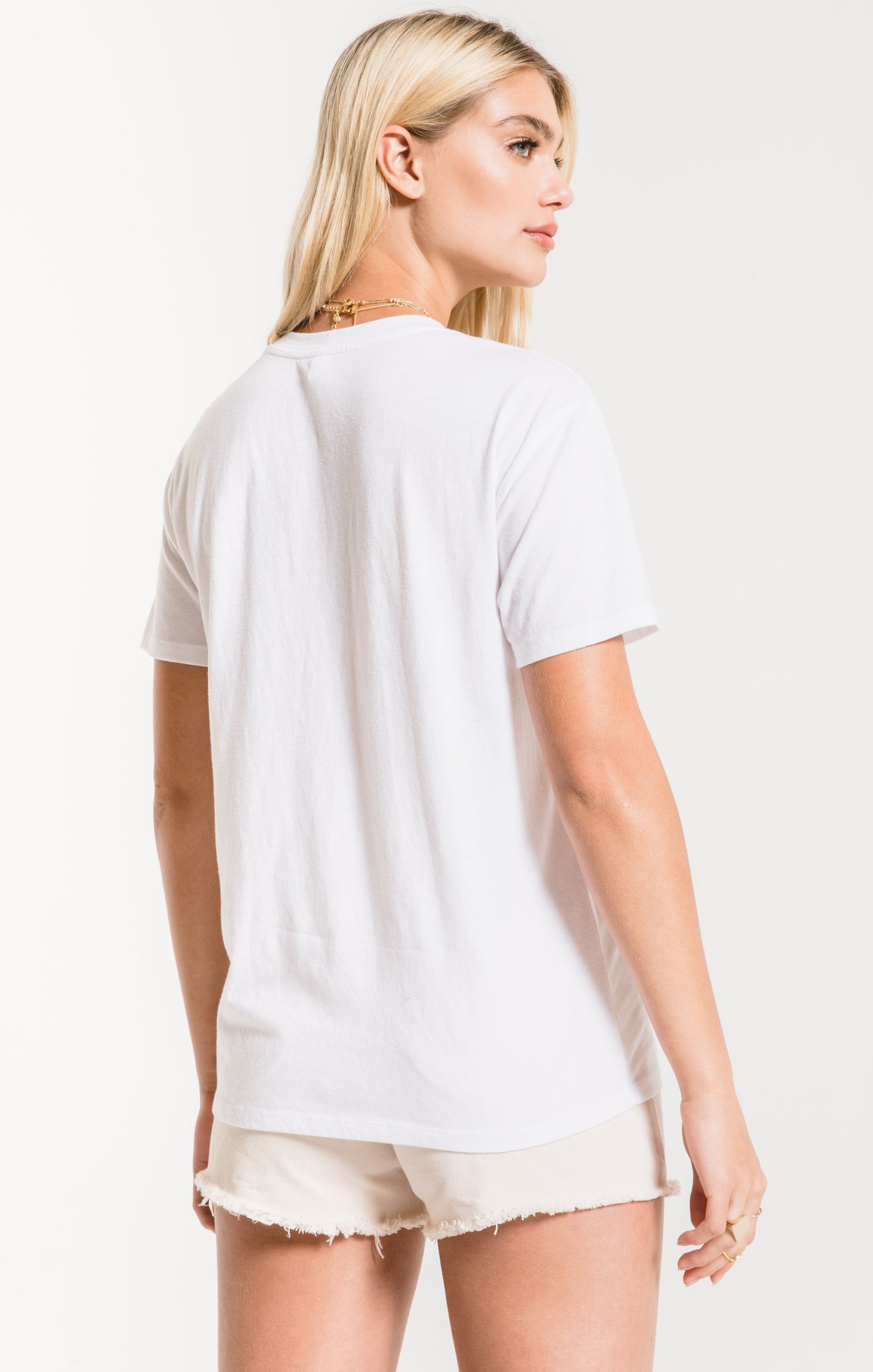 Tops Love Heart Crew Tee White