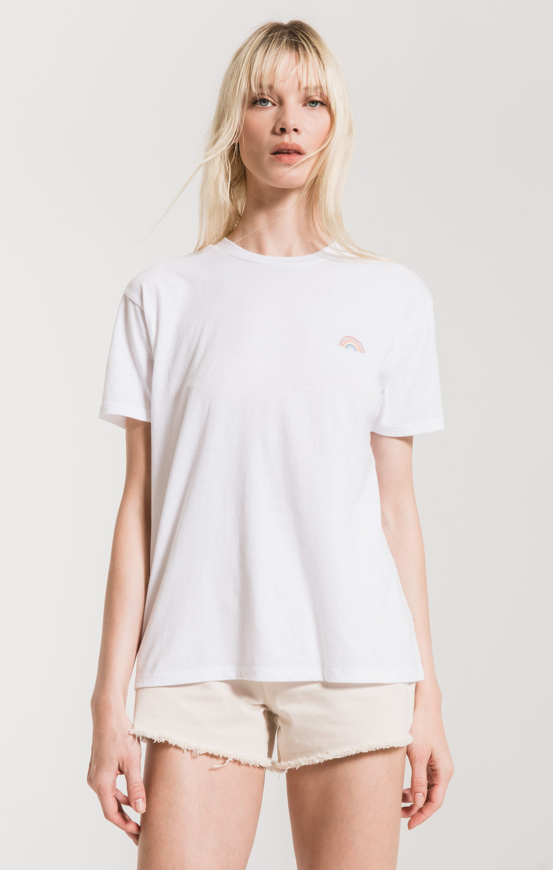 Tops Over The Rainbow Tee White