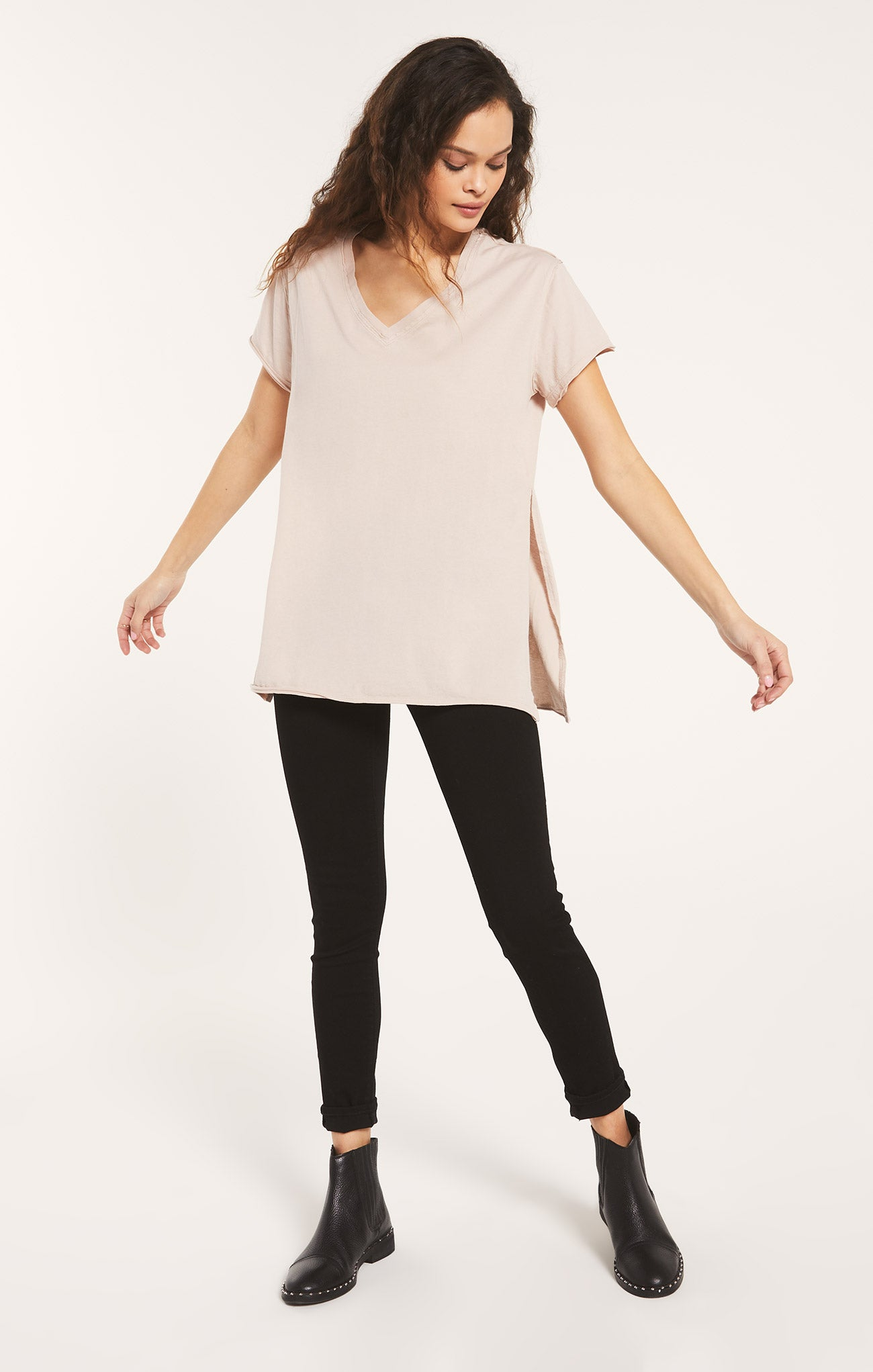 Tops Organic Cotton Side Slit Tunic Organic Cotton Side Slit Tunic