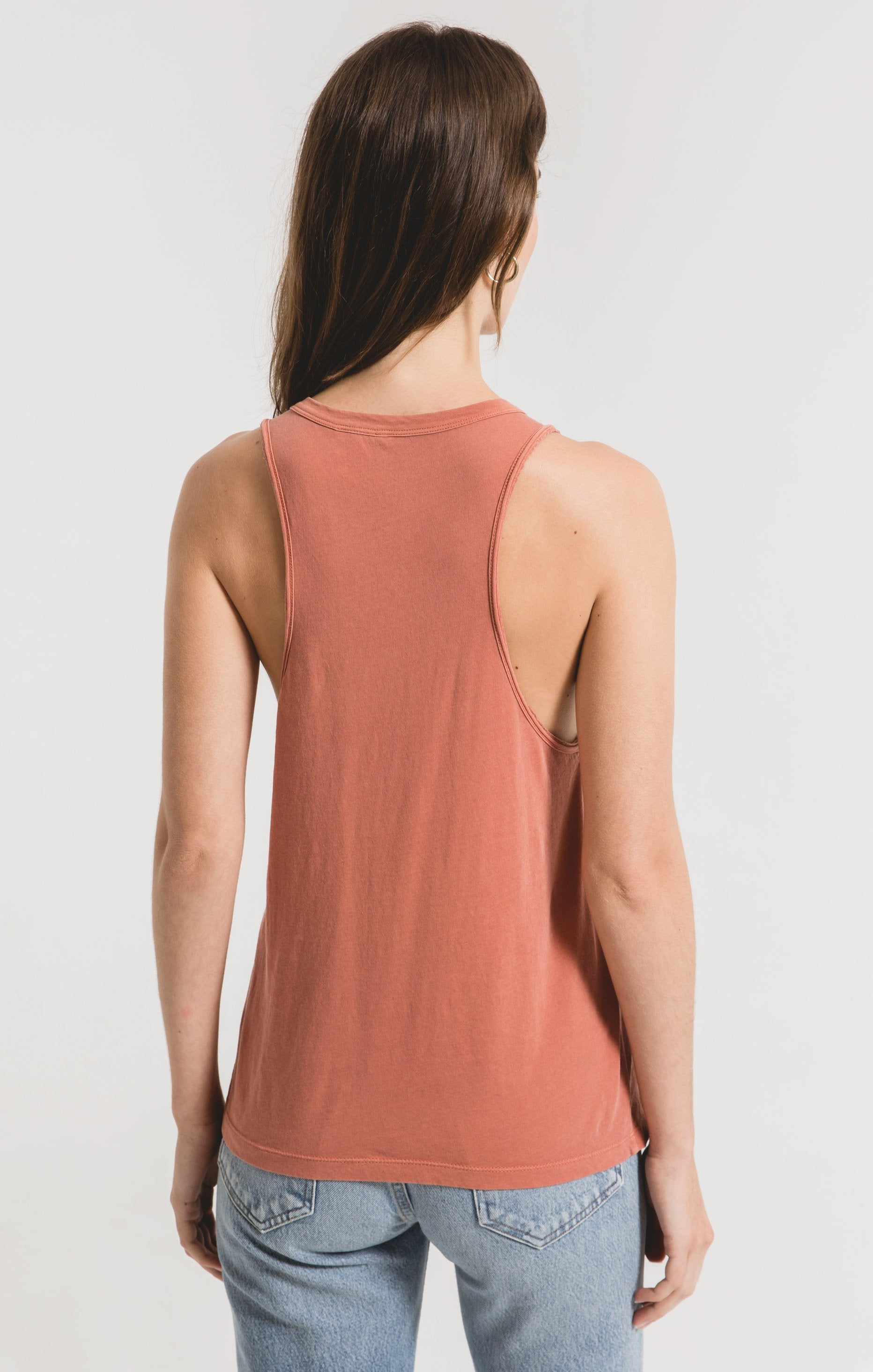 Tops Organic Cotton Muscle Tank Desert Sand