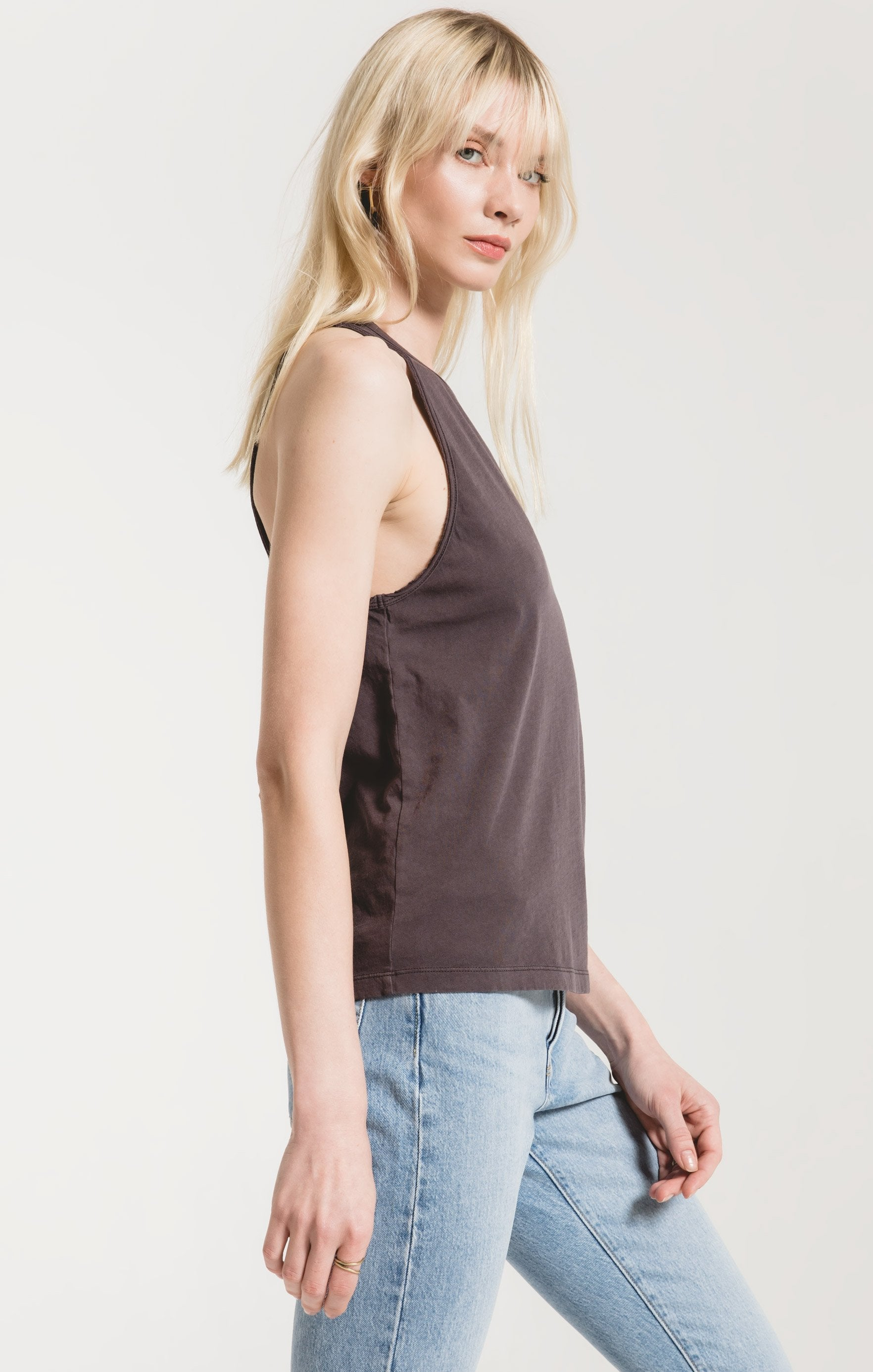 Tops Organic Cotton Muscle Tank Graphite