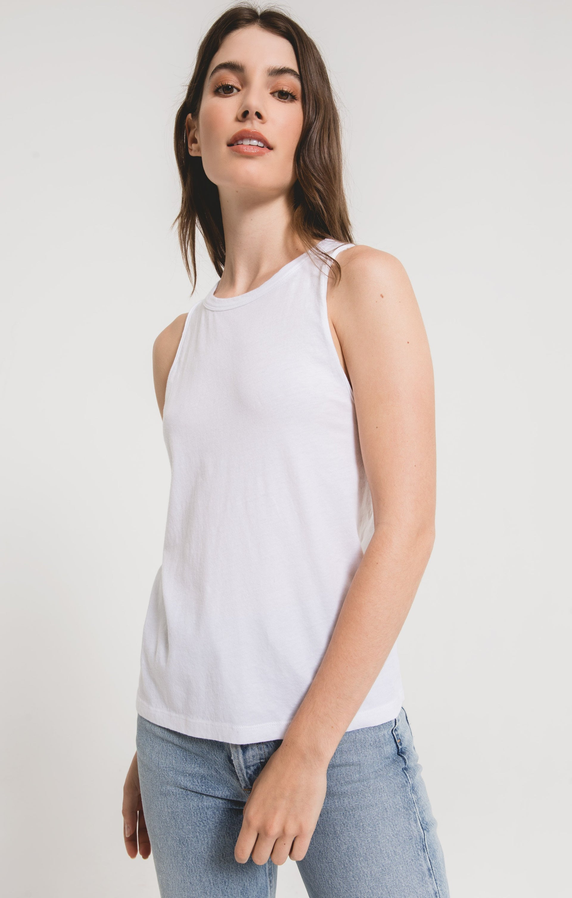 Tops Organic Cotton Muscle Tank White