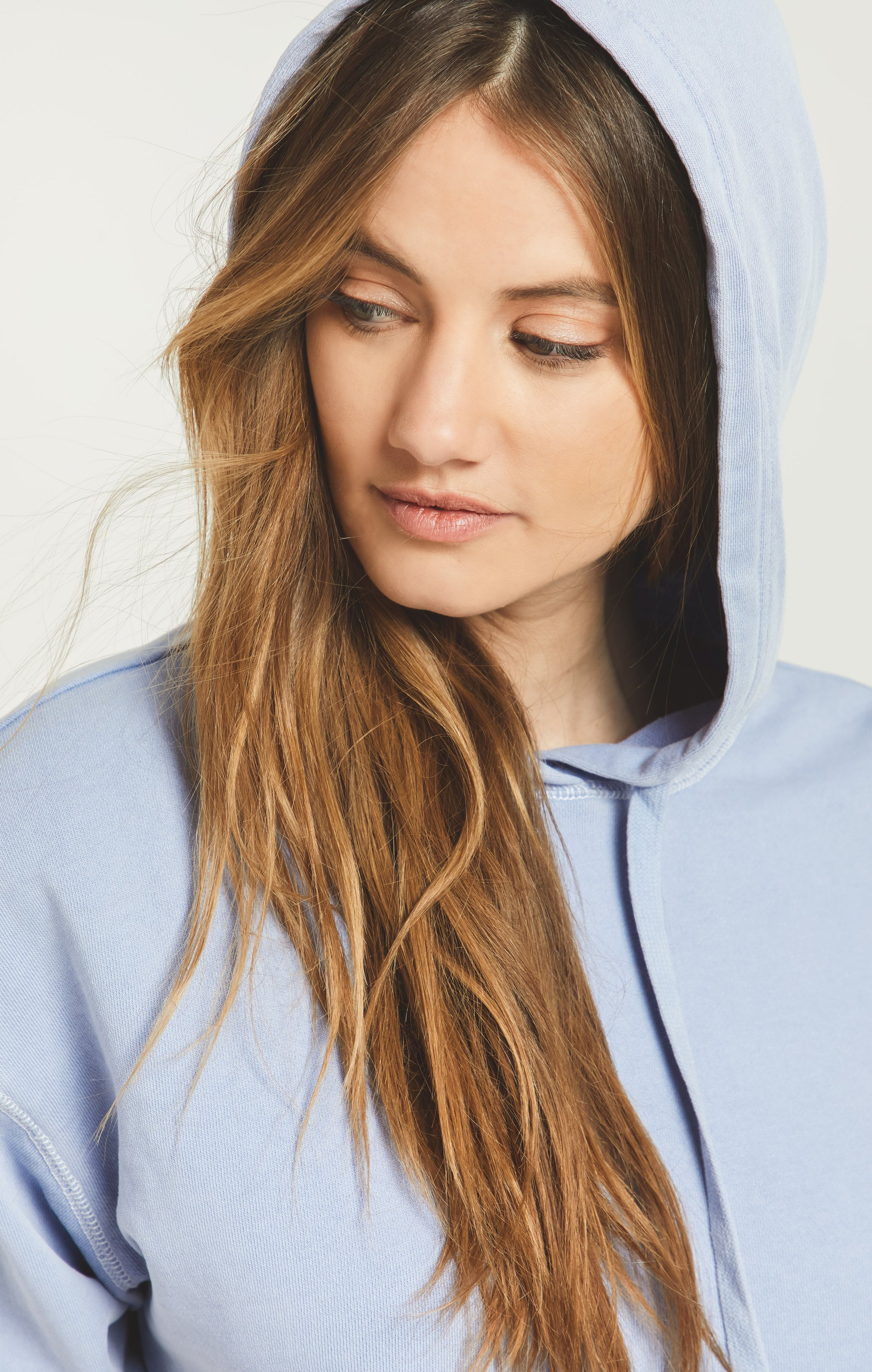 Tops Gia Washed Hoodie Forever Blue