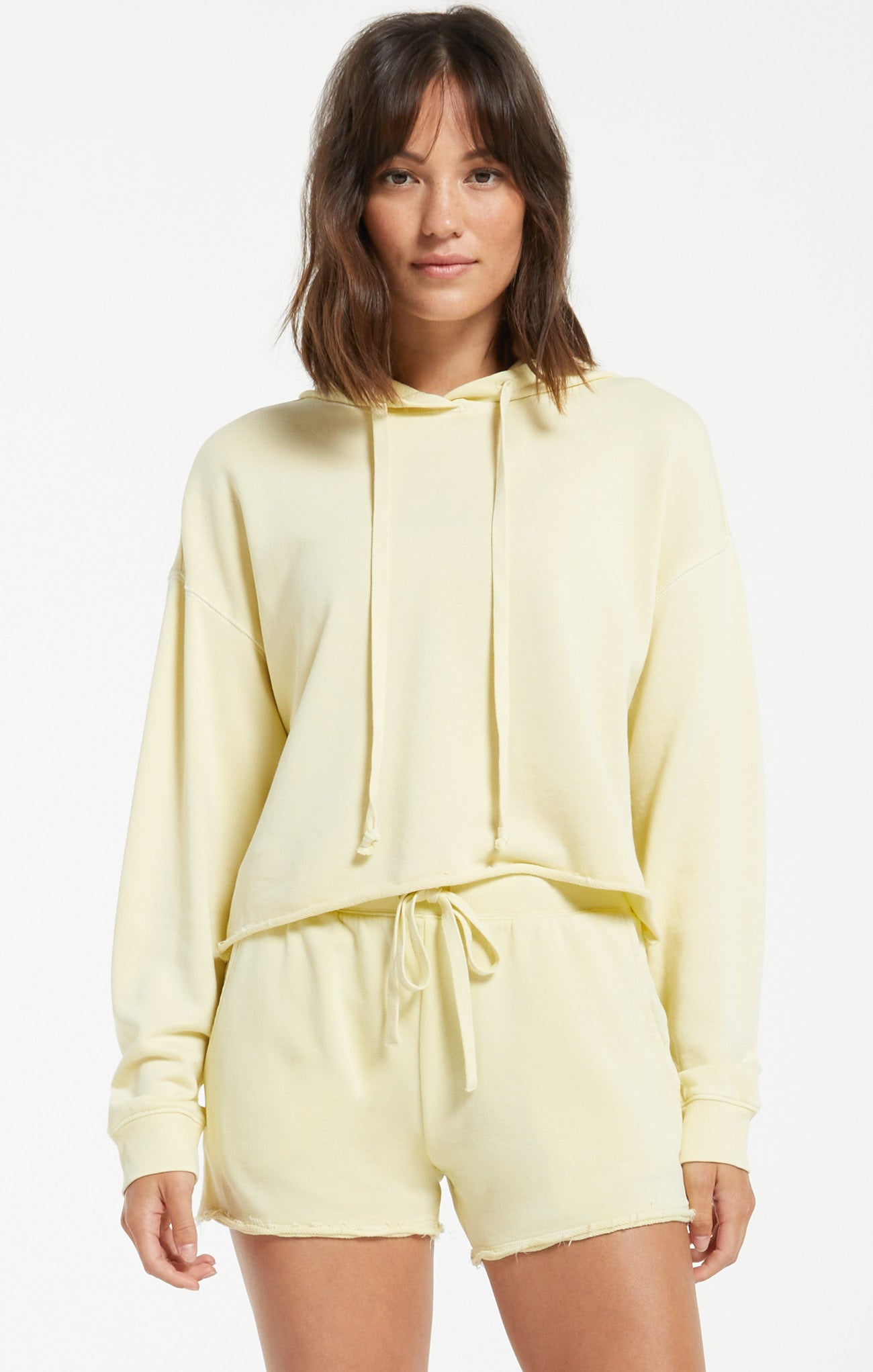 Tops Gia Washed Hoodie Key Lime
