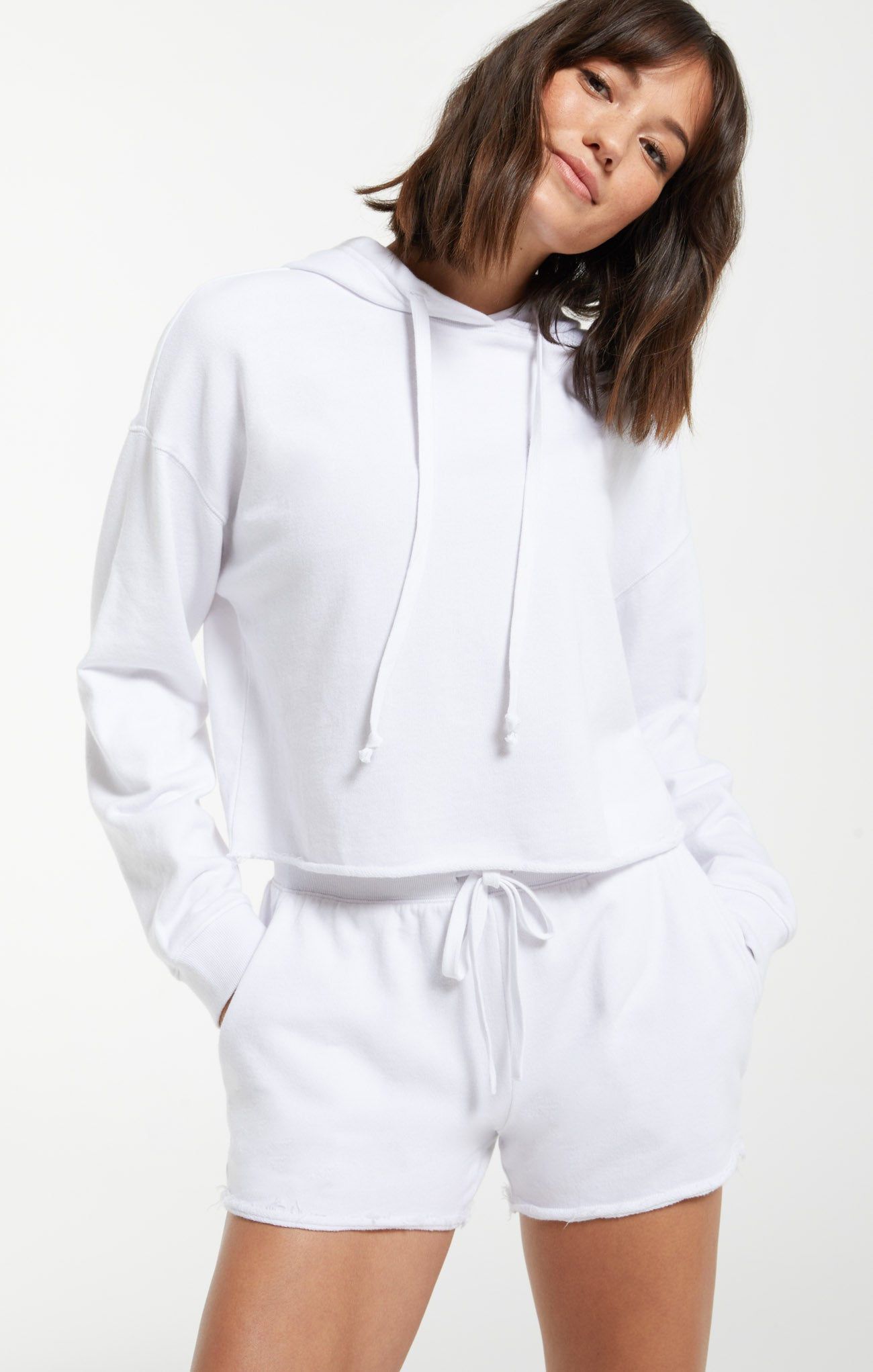 Tops Gia Washed Hoodie White