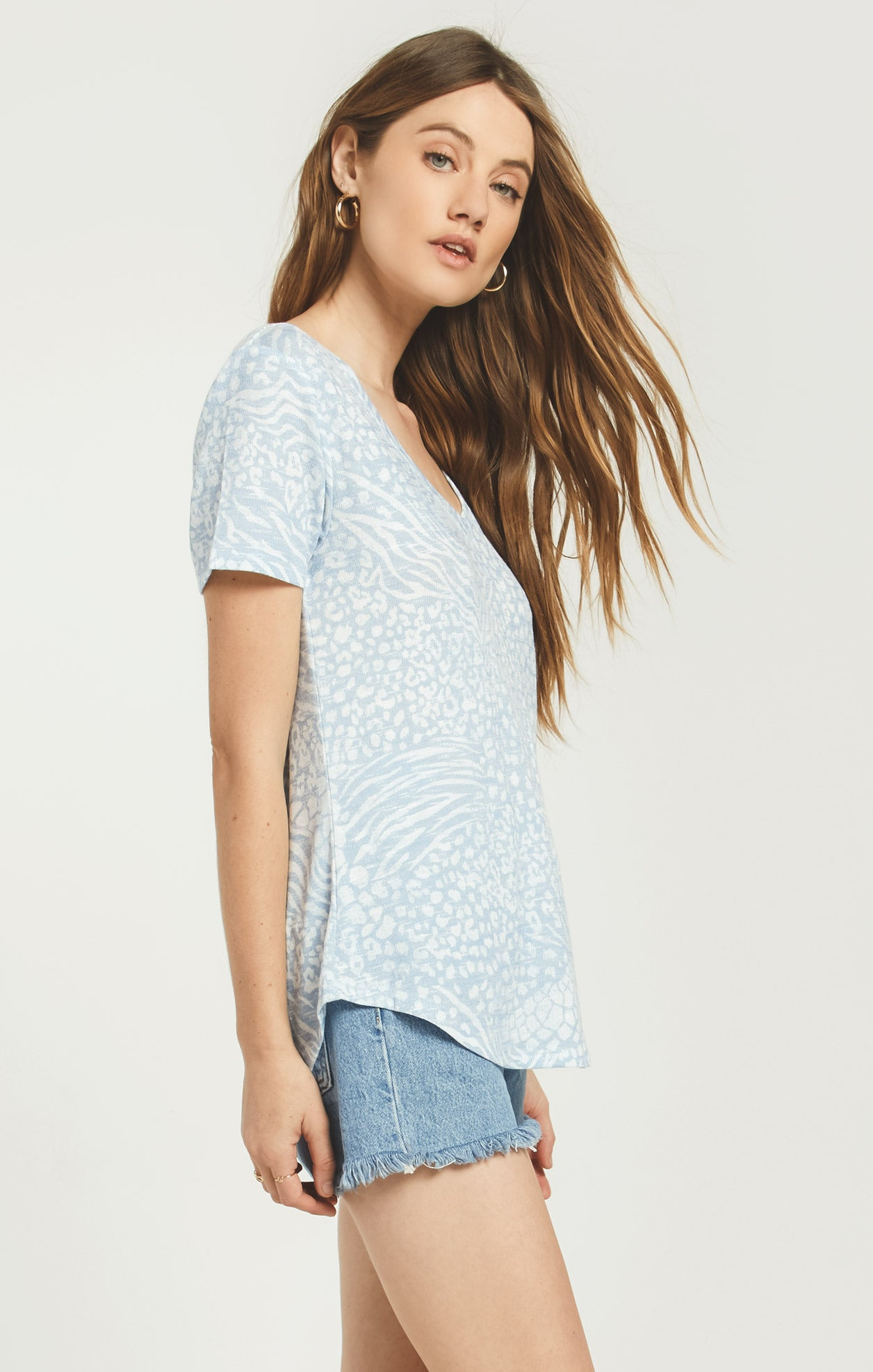 Tops Ridley Animal Tee Forever Blue