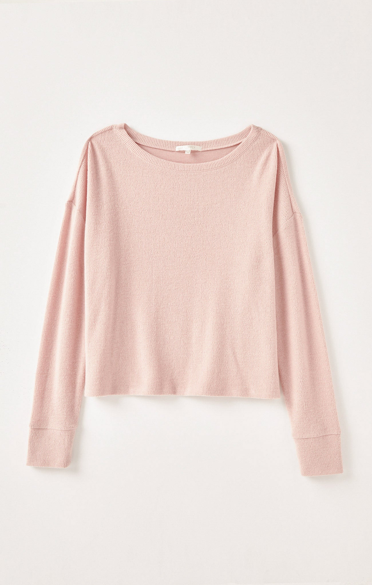 Tops Leila Rib Long Sleeve Rosy Pink