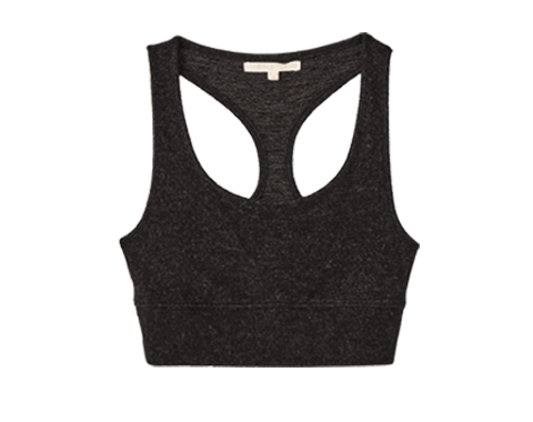 Tops Sia Marled Tank Bra Outfit Builder Heather Black