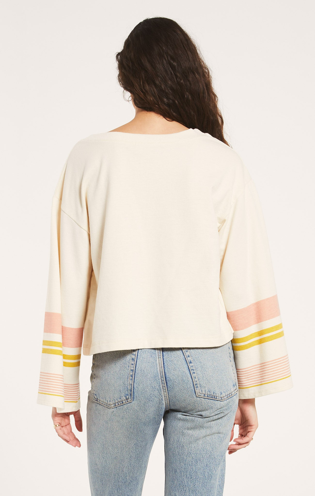 Tops Tera Stripe Pullover Bone