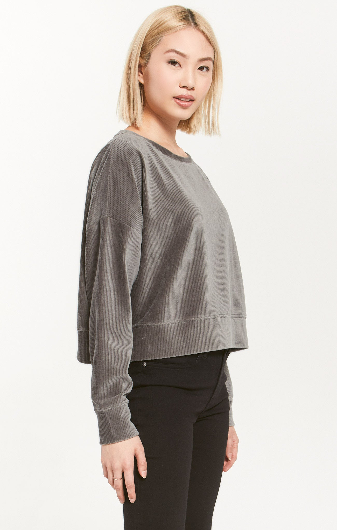 Tops Astrid Cord Pullover Ash Green
