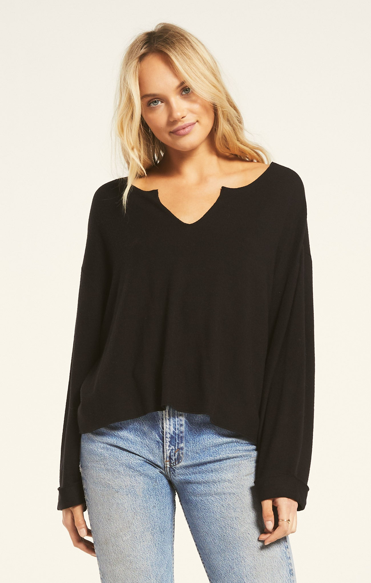 Tops Alpine Marled Pullover Black