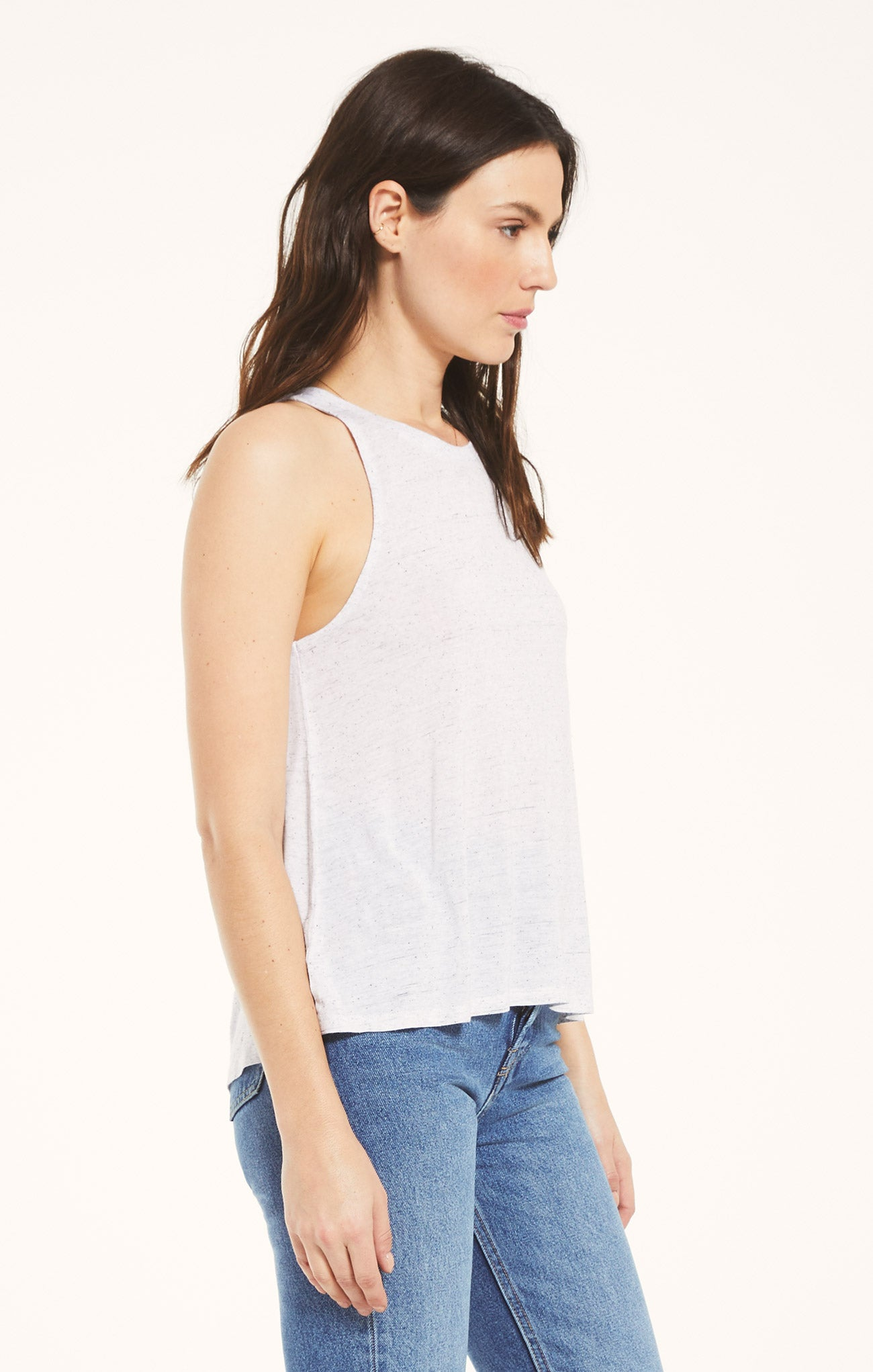 Tops Ryder Speckle Tank White