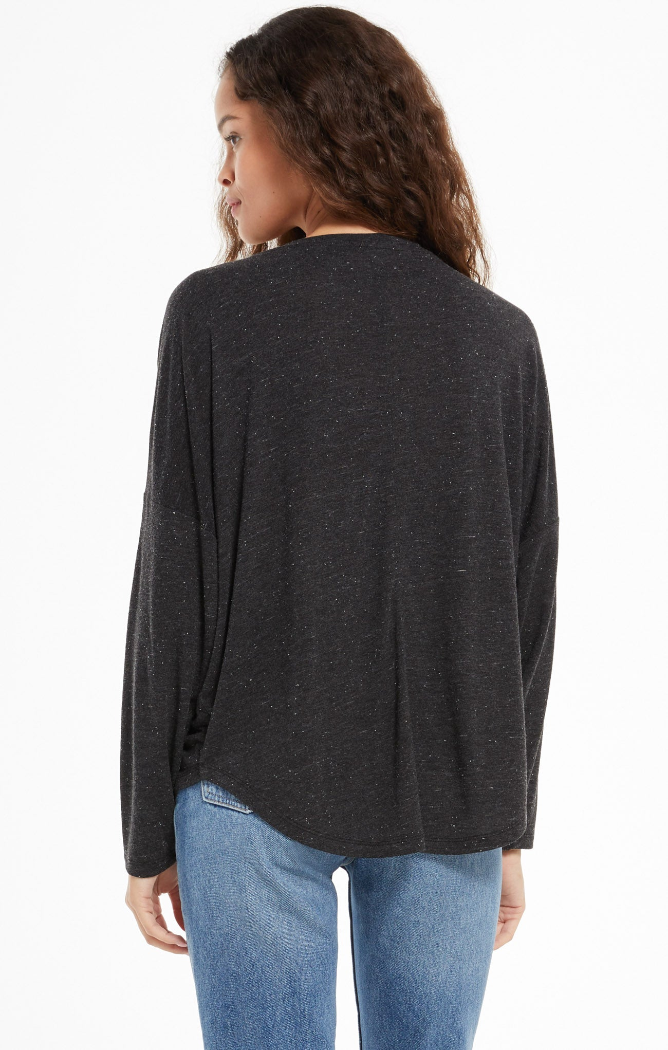 Tops Billie Speckle Tee Black