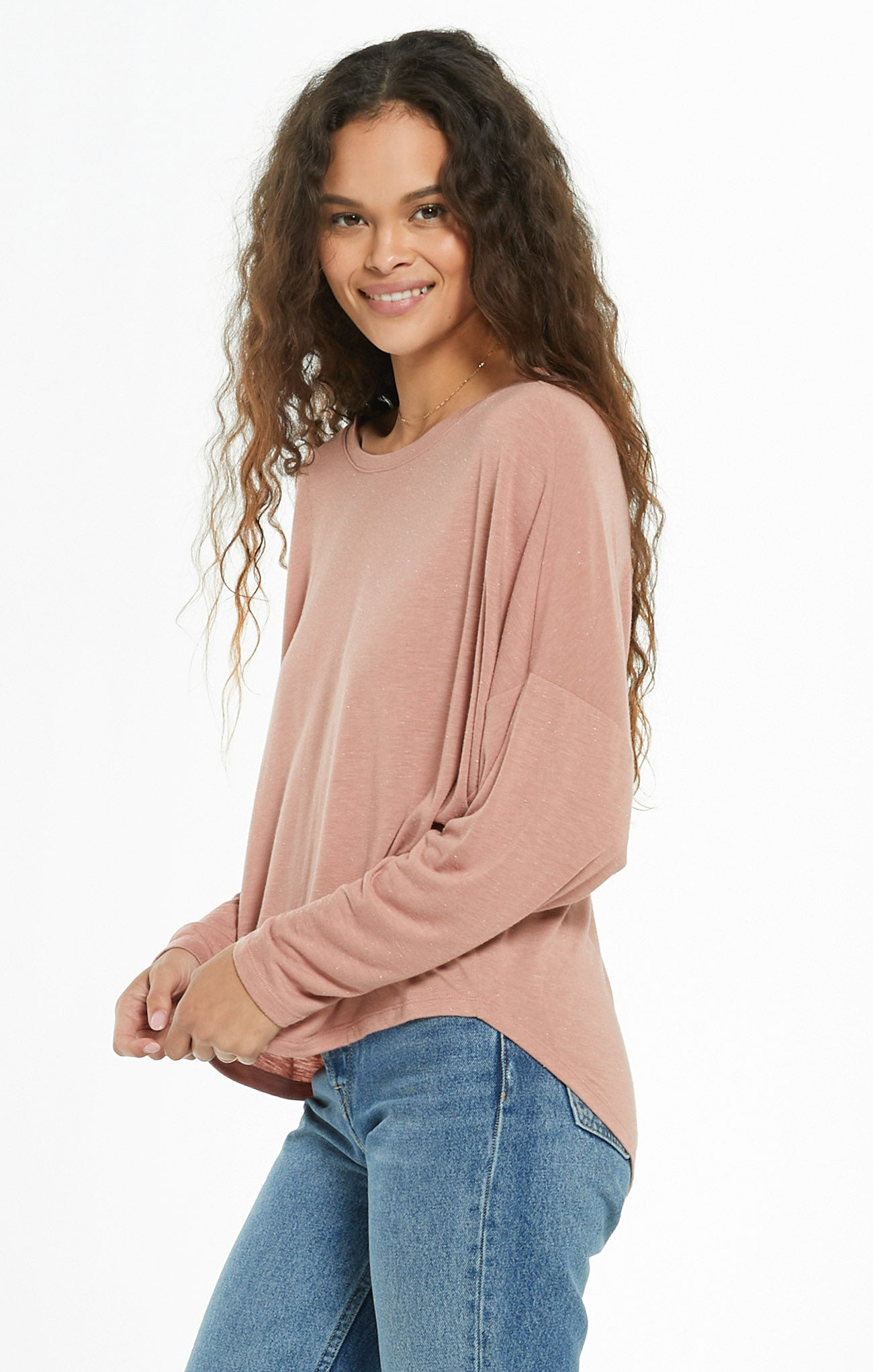 Tops Billie Speckle Tee Wild Rose