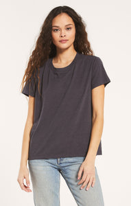 TopsTrina Slub Tee Washed Grey